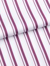 Women's Shortie Pyjamas Milly 8 Cotton Full Satin Stripe Berry