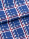 Men's Classic Fit Boxer Shorts Barker 17 Cotton Check Blue