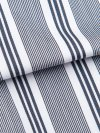Men's Classic Fit Boxer Shorts Milly 6 Cotton Full Satin Stripe Navy