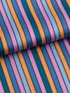 Men's Modern Fit Pyjamas Milly 5 Cotton Full Satin Stripe Multi
