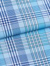 Men's Classic Fit Pyjamas Barker 20 Cotton Check Blue