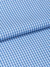 Men's Classic Fit Piped Pyjamas Gingham Cotton Check Blue