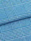 Men's Lounge Trousers Kelburn 6 Brushed Cotton Check Ocean