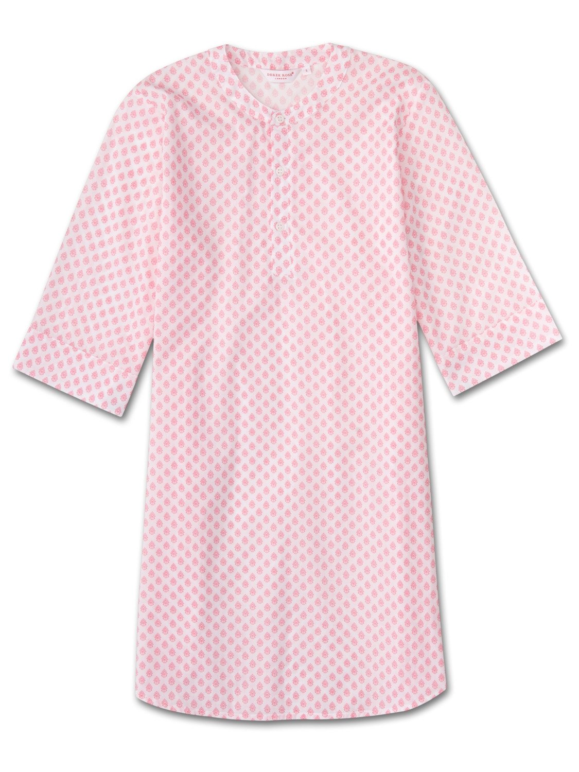 Women's Kaftan Nightshirt Ledbury 9 Cotton Batiste White