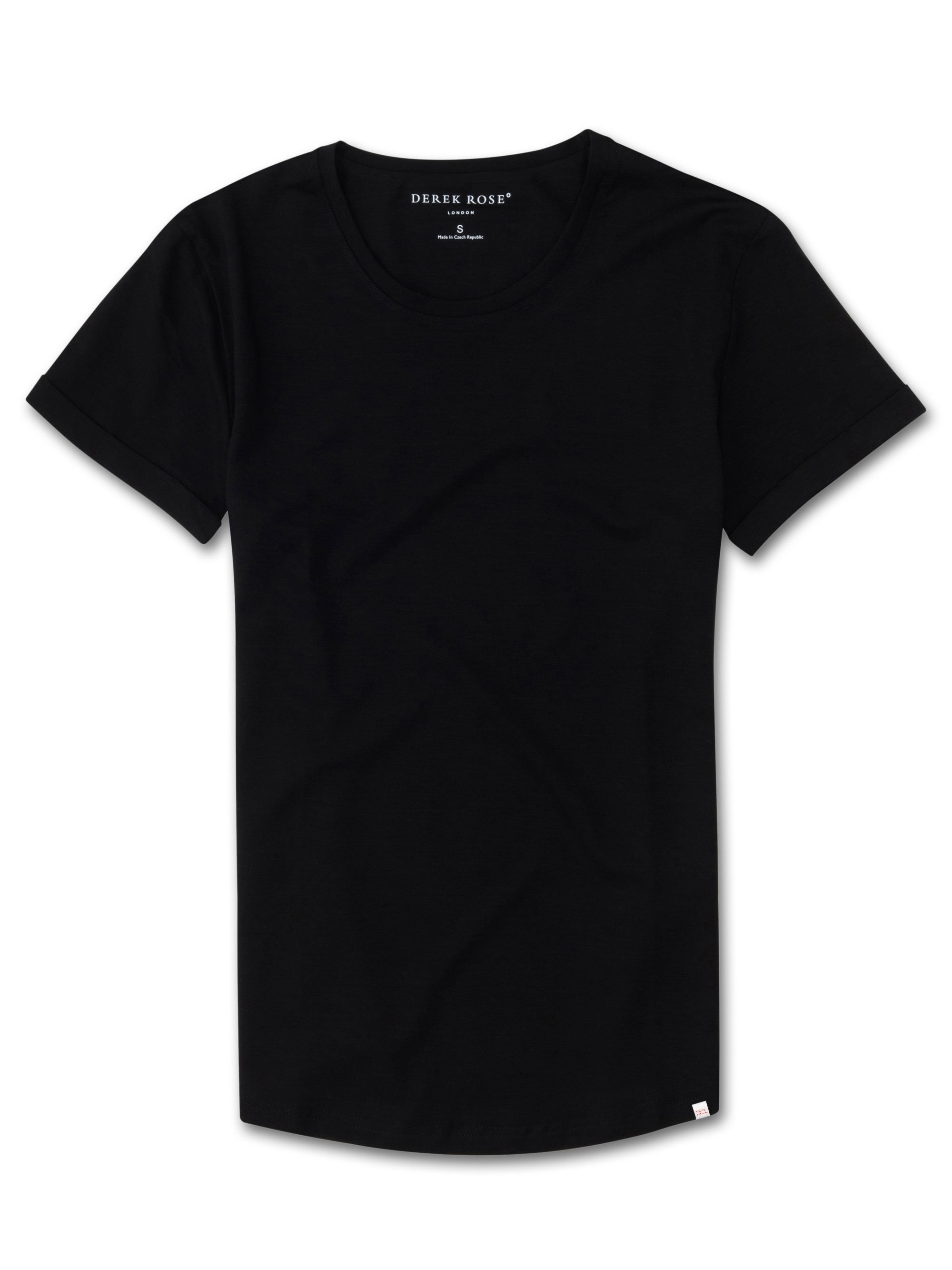 Women's Leisure T-Shirt Lara Micro Modal Stretch Black