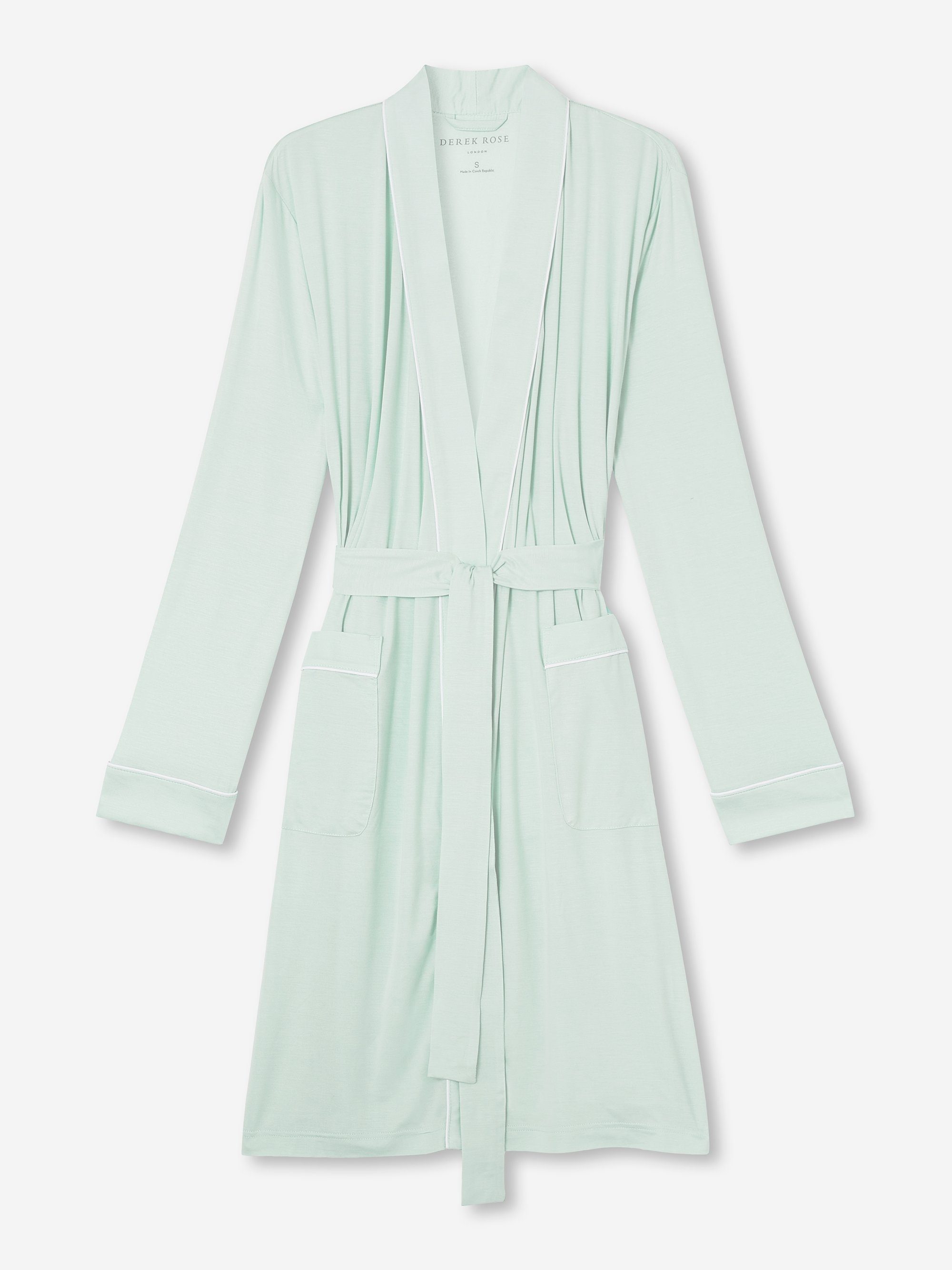 Women's Jersey Dressing Gown Lara Micro Modal Stretch Mint