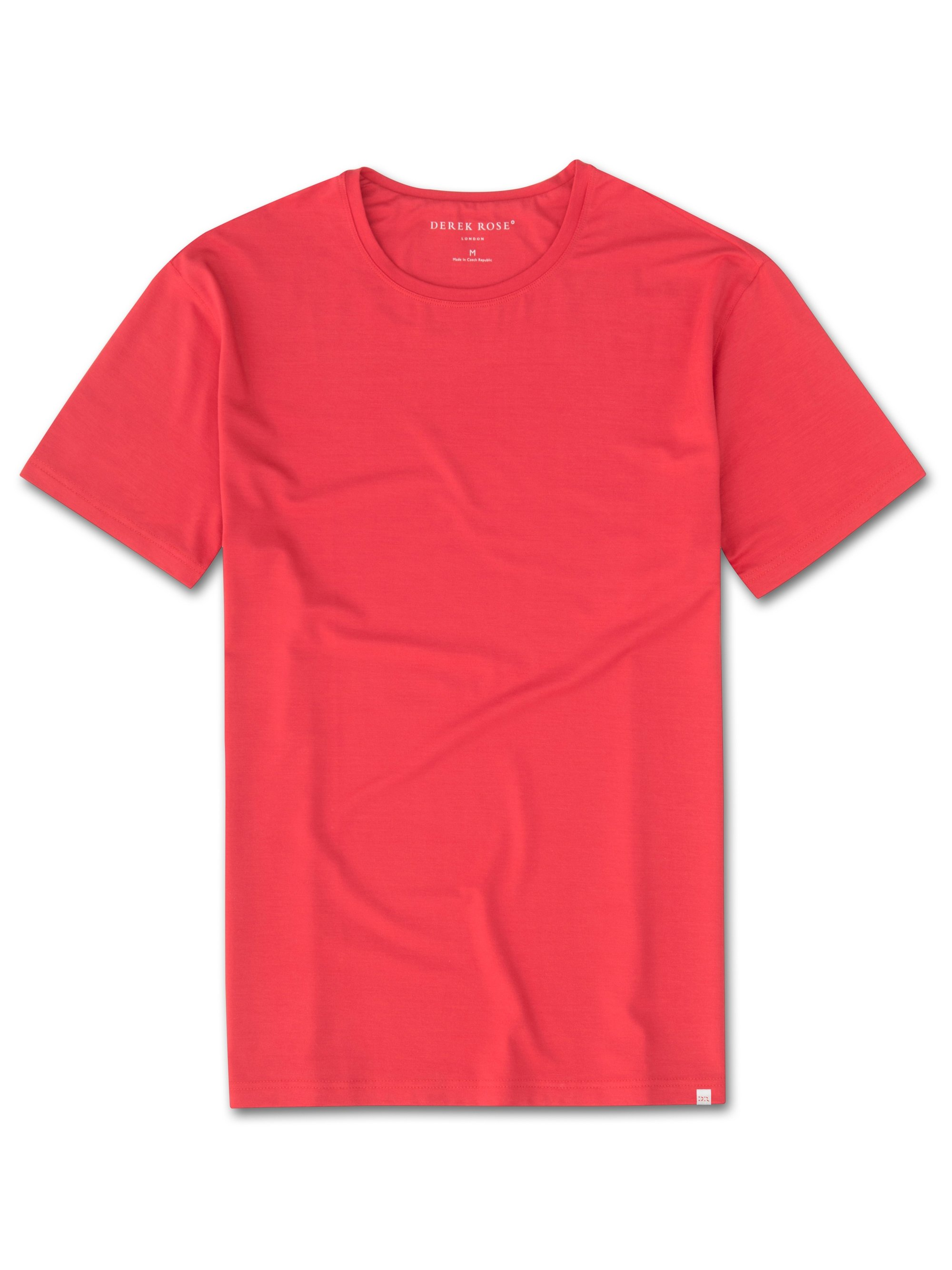 Men's Short Sleeve T-Shirt Basel 6 Micro Modal Stretch Red