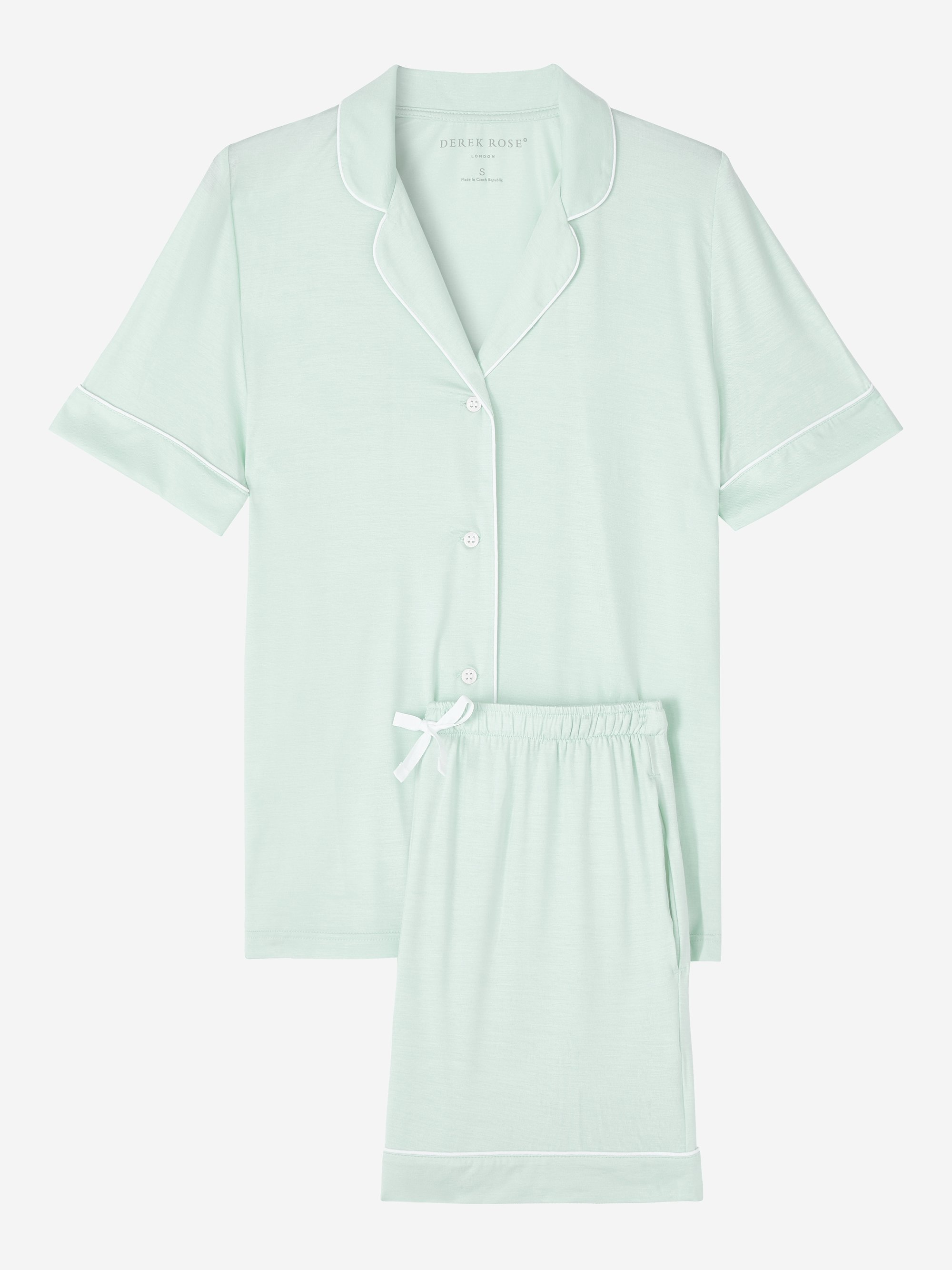 Women's Jersey Shortie Pyjamas Lara Micro Modal Stretch Mint