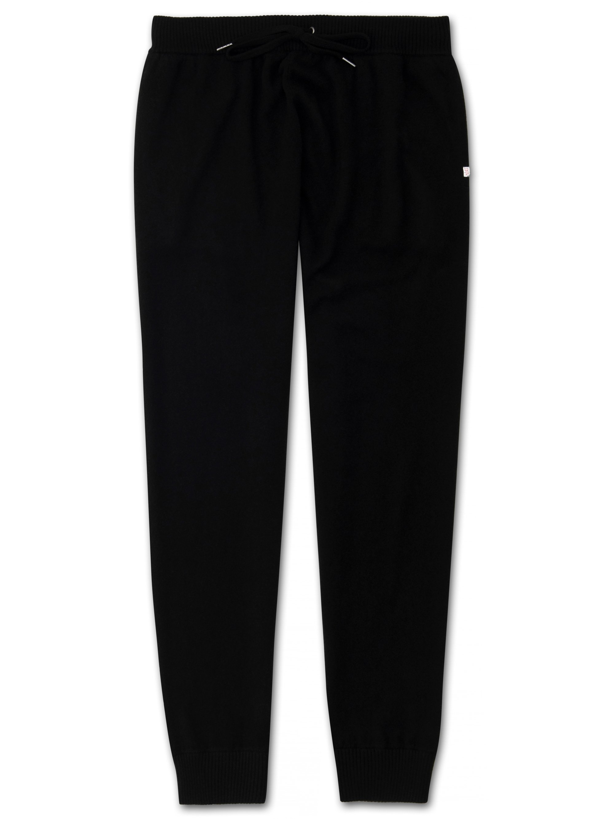 Men's Cashmere Track Pants Finley Pure Cashmere Black