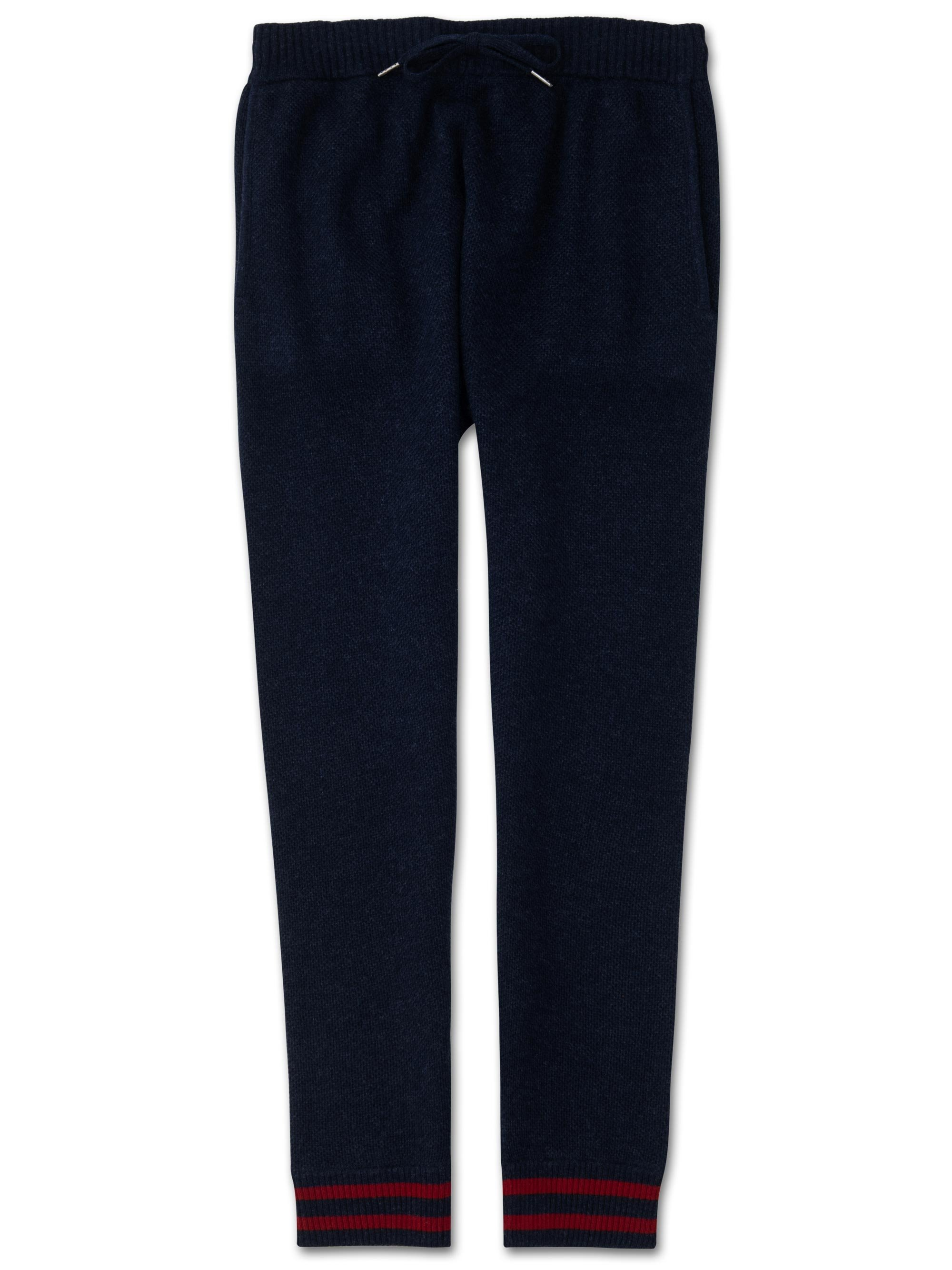 Men's Cashmere Track Pants Felix 2 Pure Cashmere Midnight
