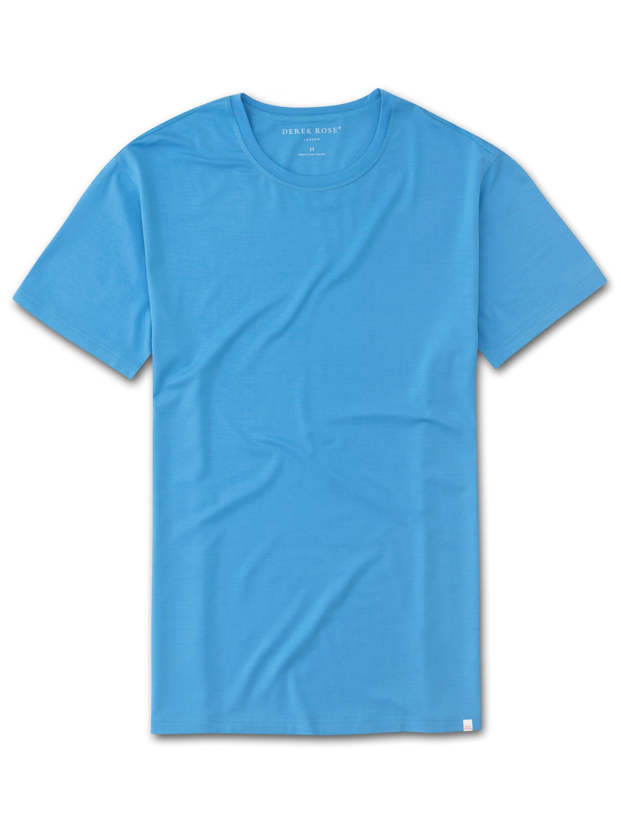 Men's Short Sleeve T-Shirt Basel 8 Micro Modal Stretch Sky