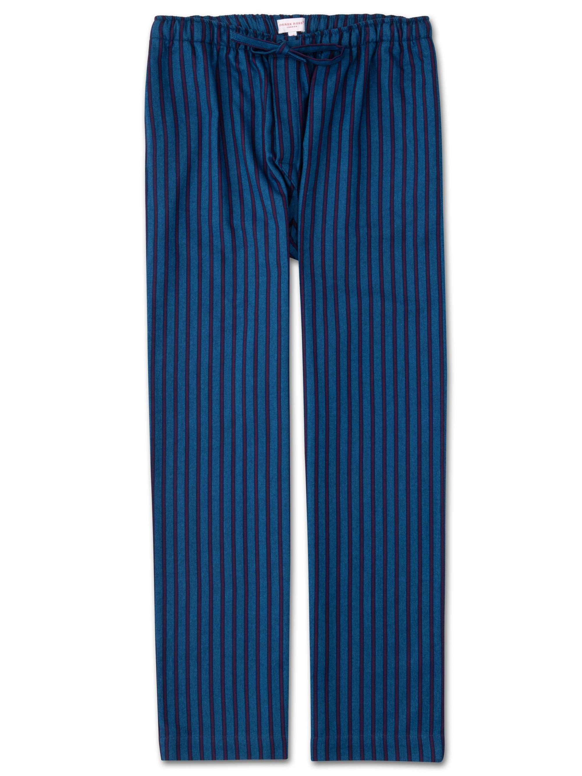 Men's Lounge Trousers Arctic 19 Brushed Cotton Stripe Multi