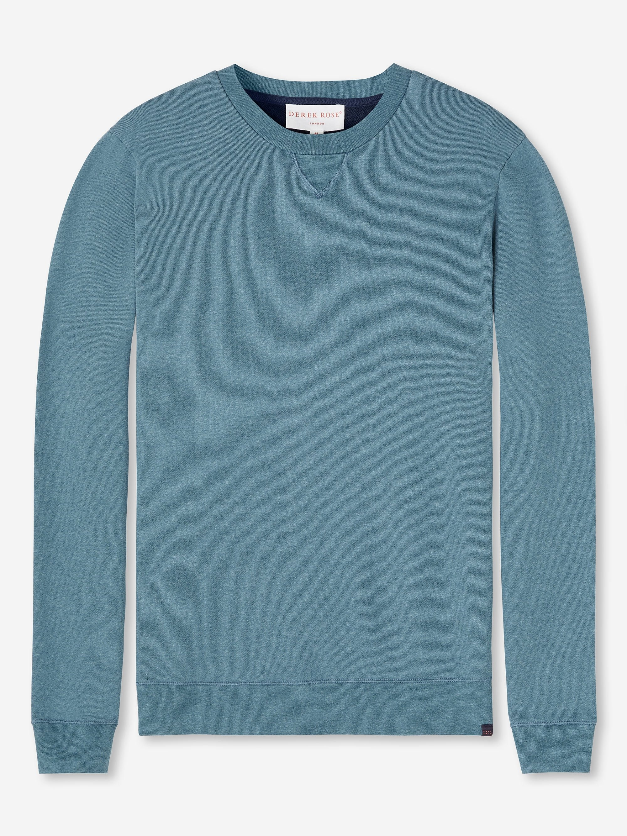 Men's Sweatshirt Devon 3 Loopback Cotton Blue