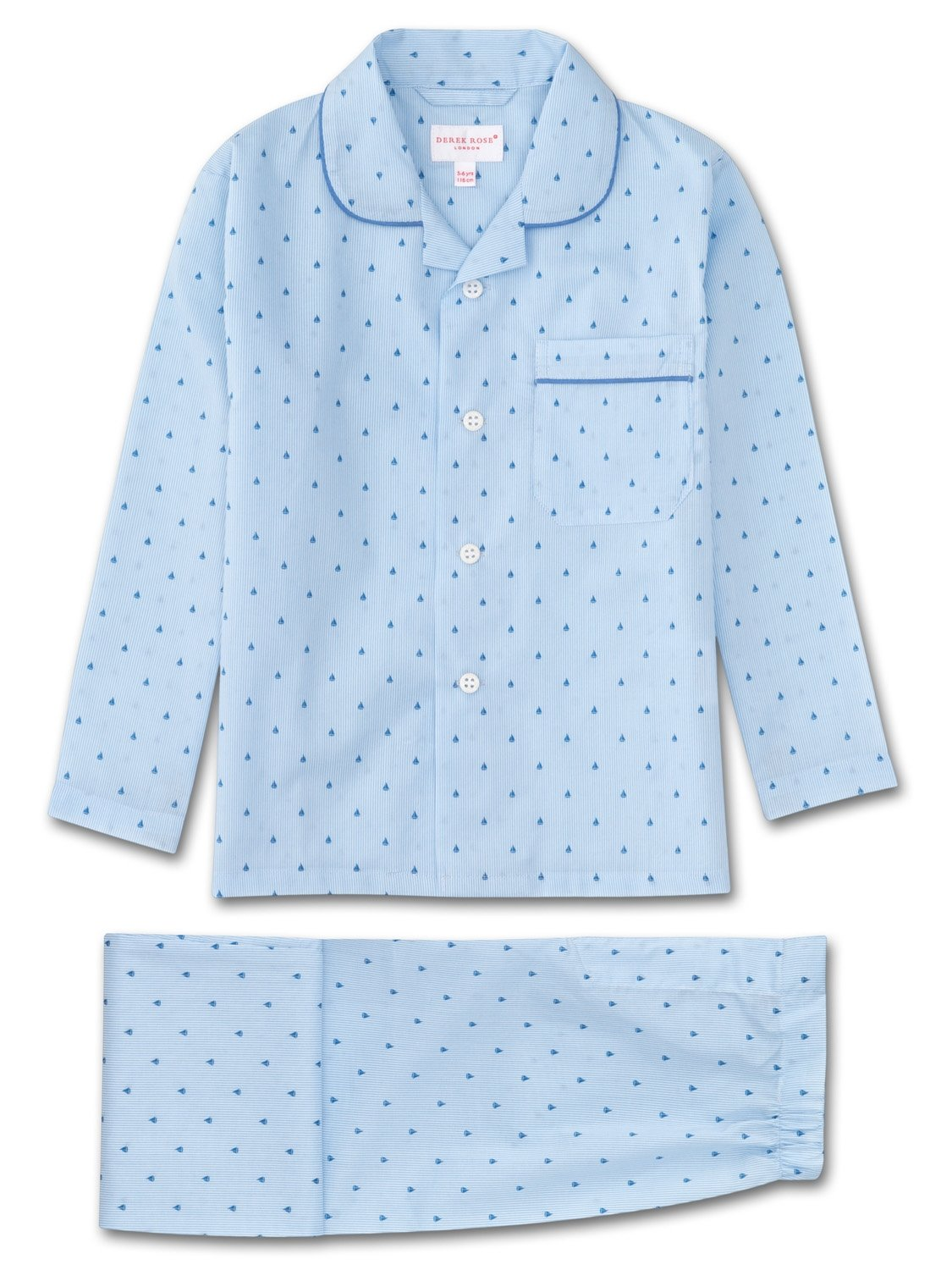 Boys' Pyjamas Nelson 63 Cotton Batiste Blue