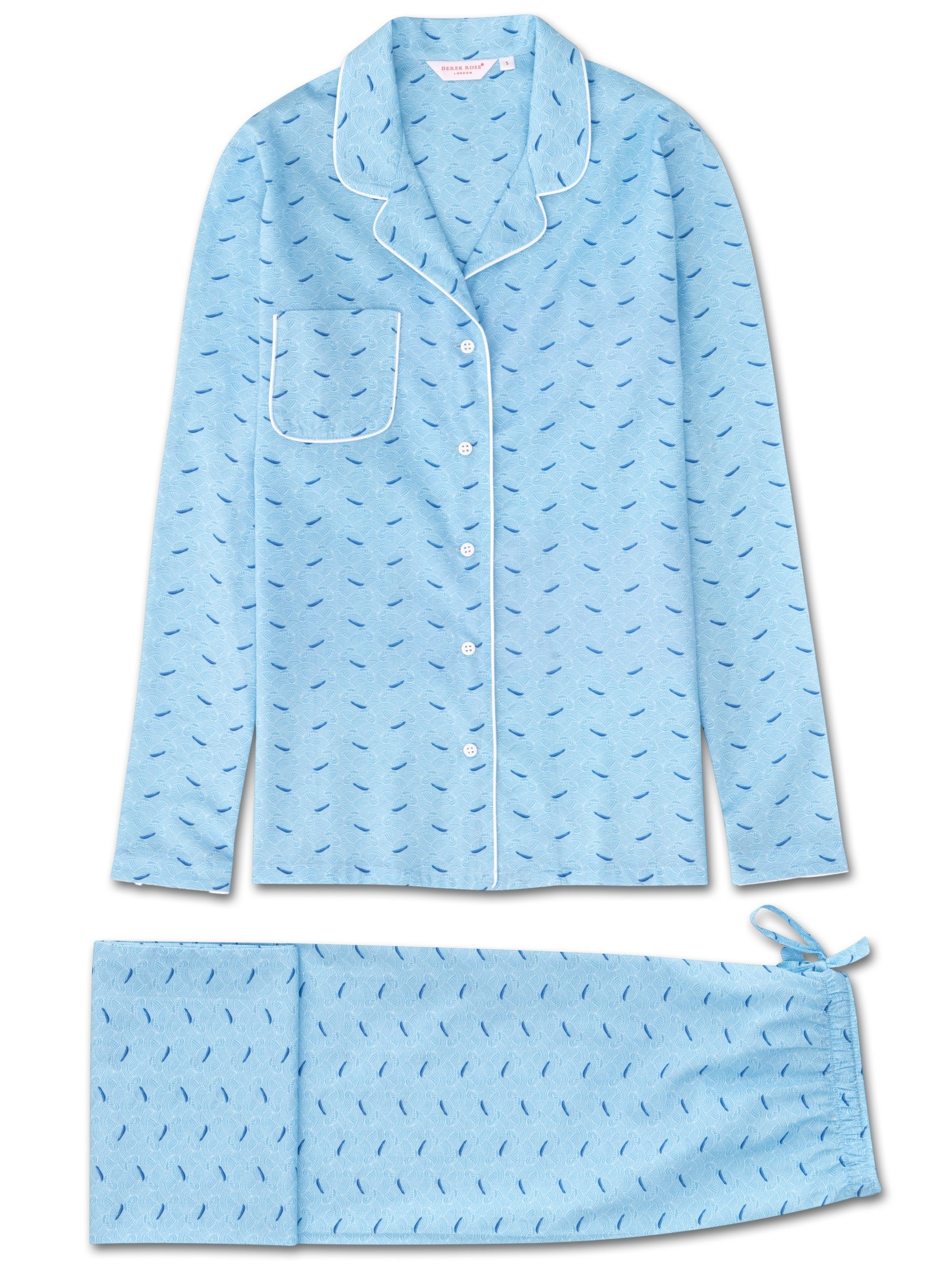 Women's Pyjamas Ledbury 12 Cotton Batiste Blue