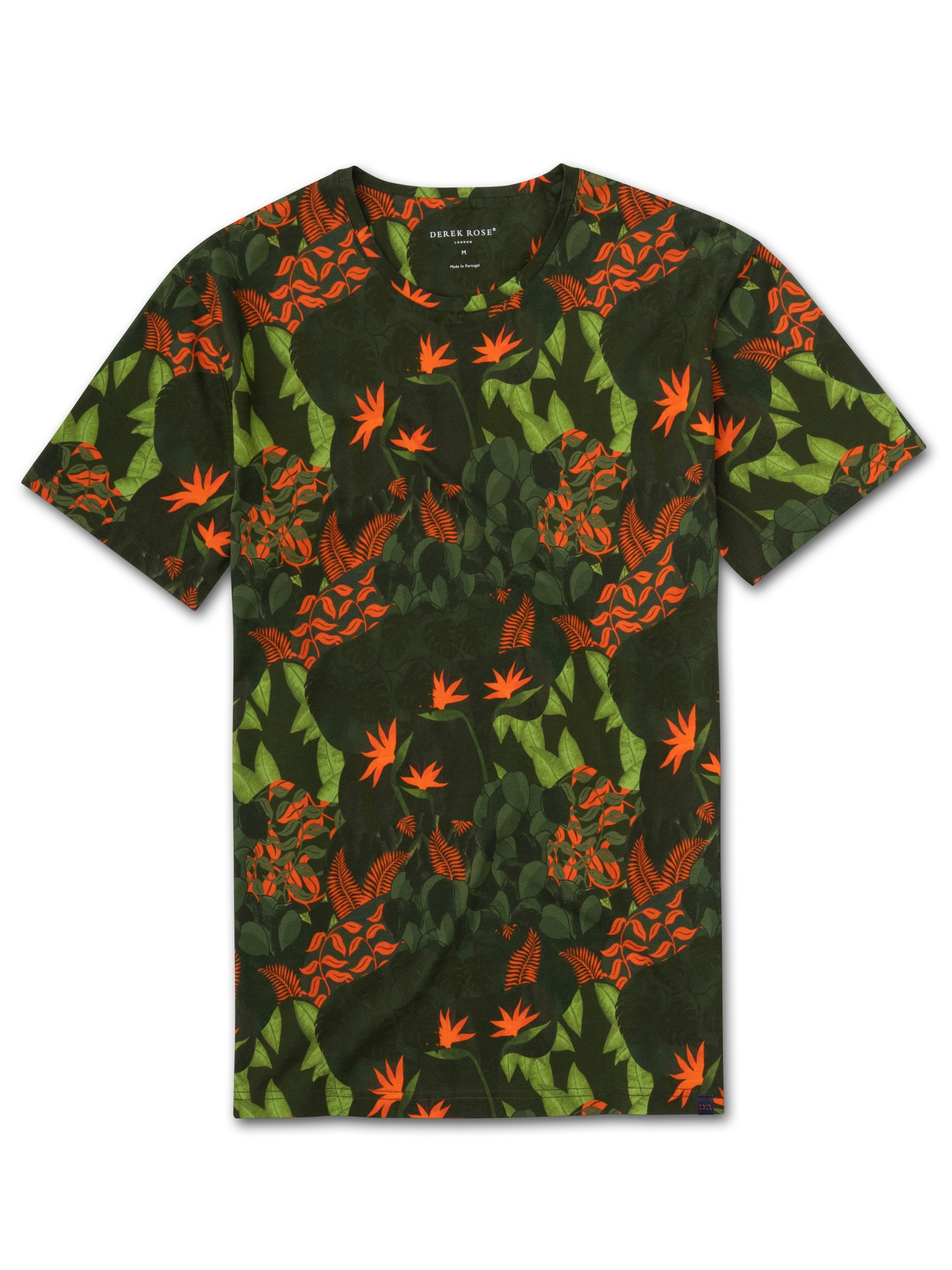 Men's Short Sleeve T-Shirt Robin 4 Pima Cotton Green