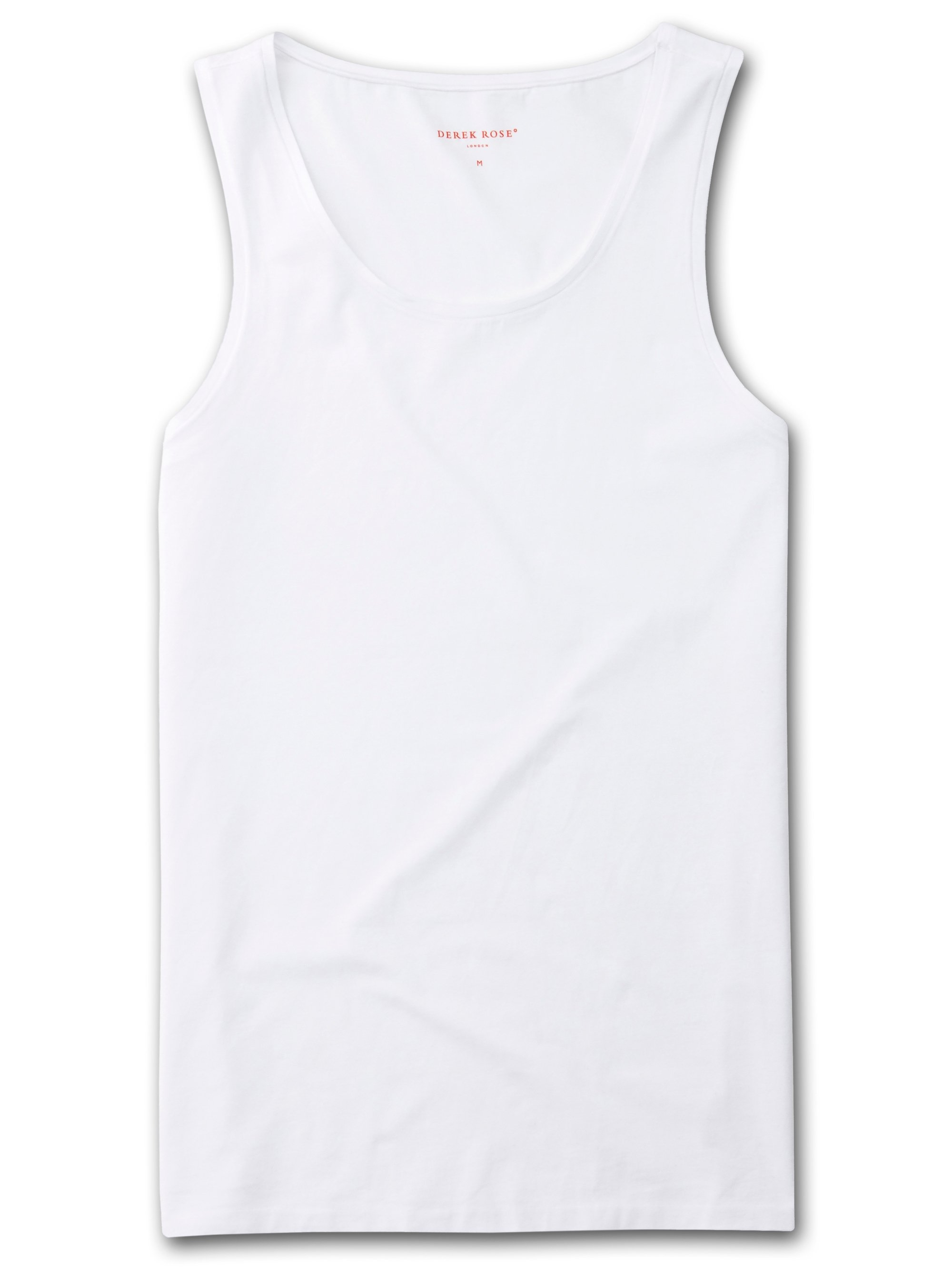 Men's Underwear Vest Jack Pima Cotton Stretch White