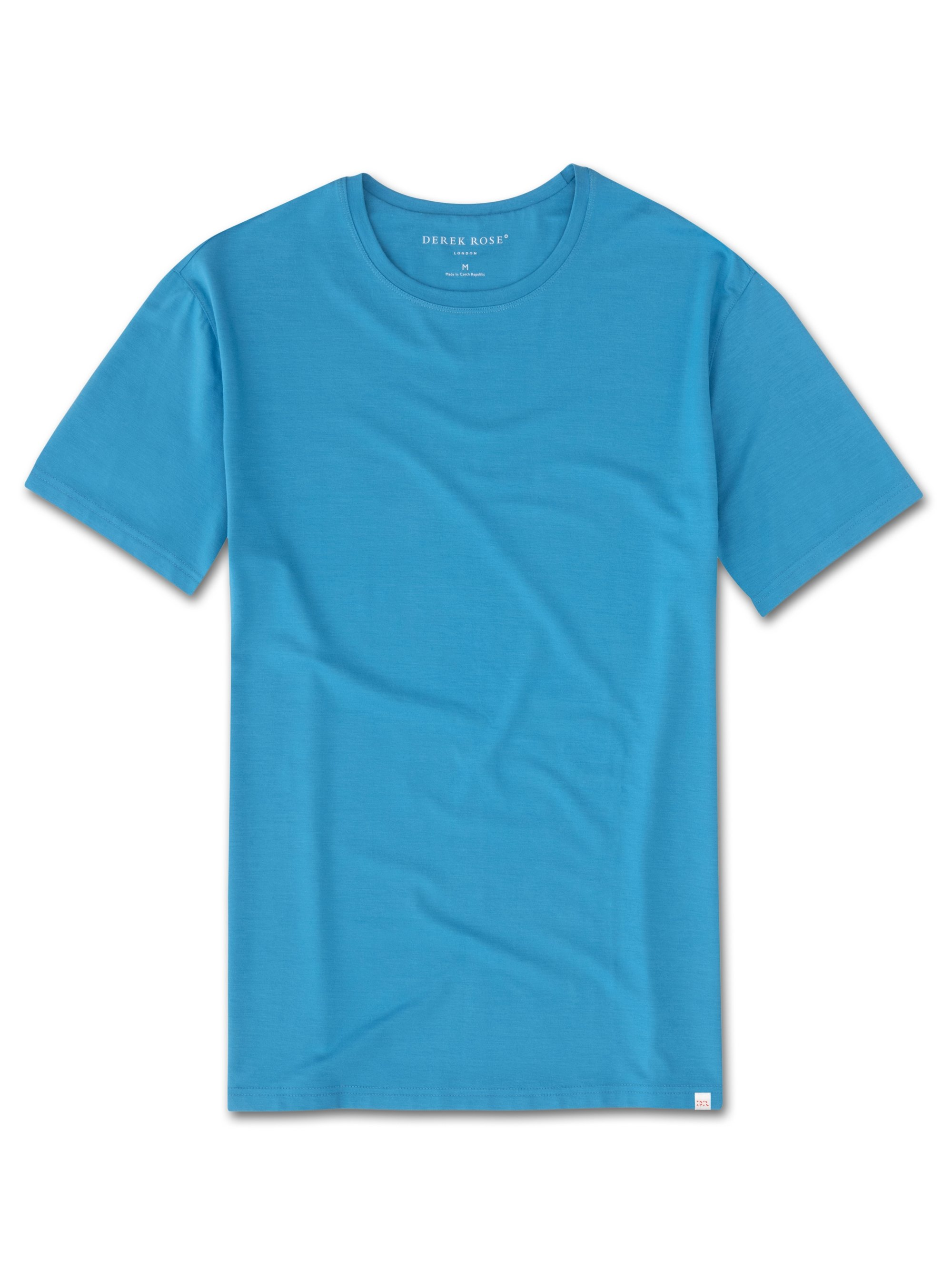Men's Short Sleeve T-Shirt Basel 6 Micro Modal Stretch Blue