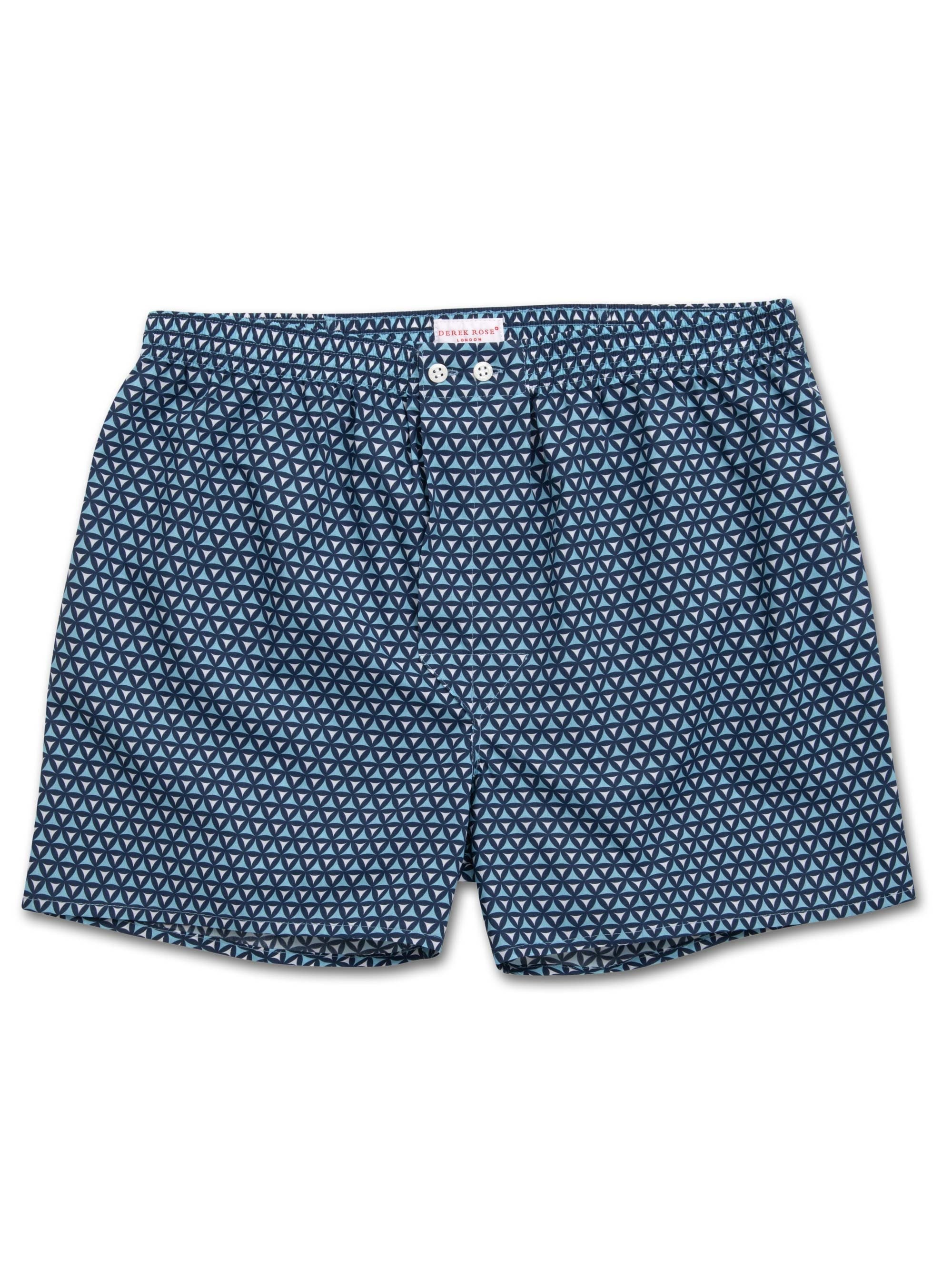 Men's Classic Fit Boxer Shorts Ledbury 26 Cotton Batiste Navy