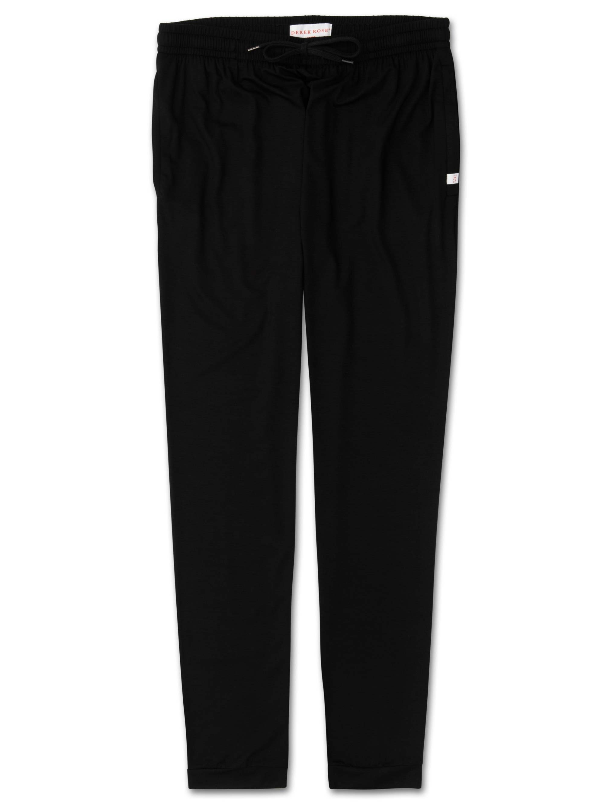 Men's Jersey Track Pants Basel Micro Modal Stretch Black