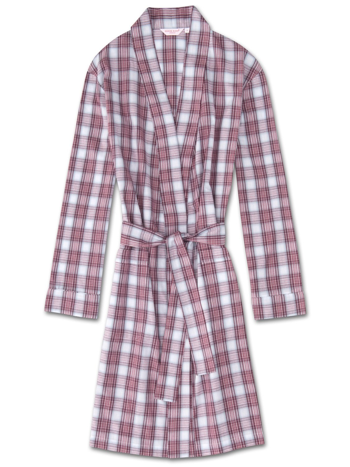 Women's Dressing Gown Ranga 34 Brushed Cotton Check Multi