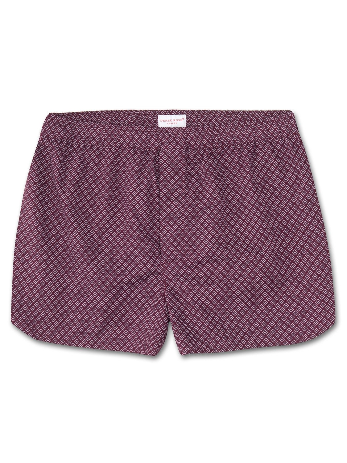 Men's Modern Fit Boxer Shorts Nelson 66 Cotton Batiste Burgundy