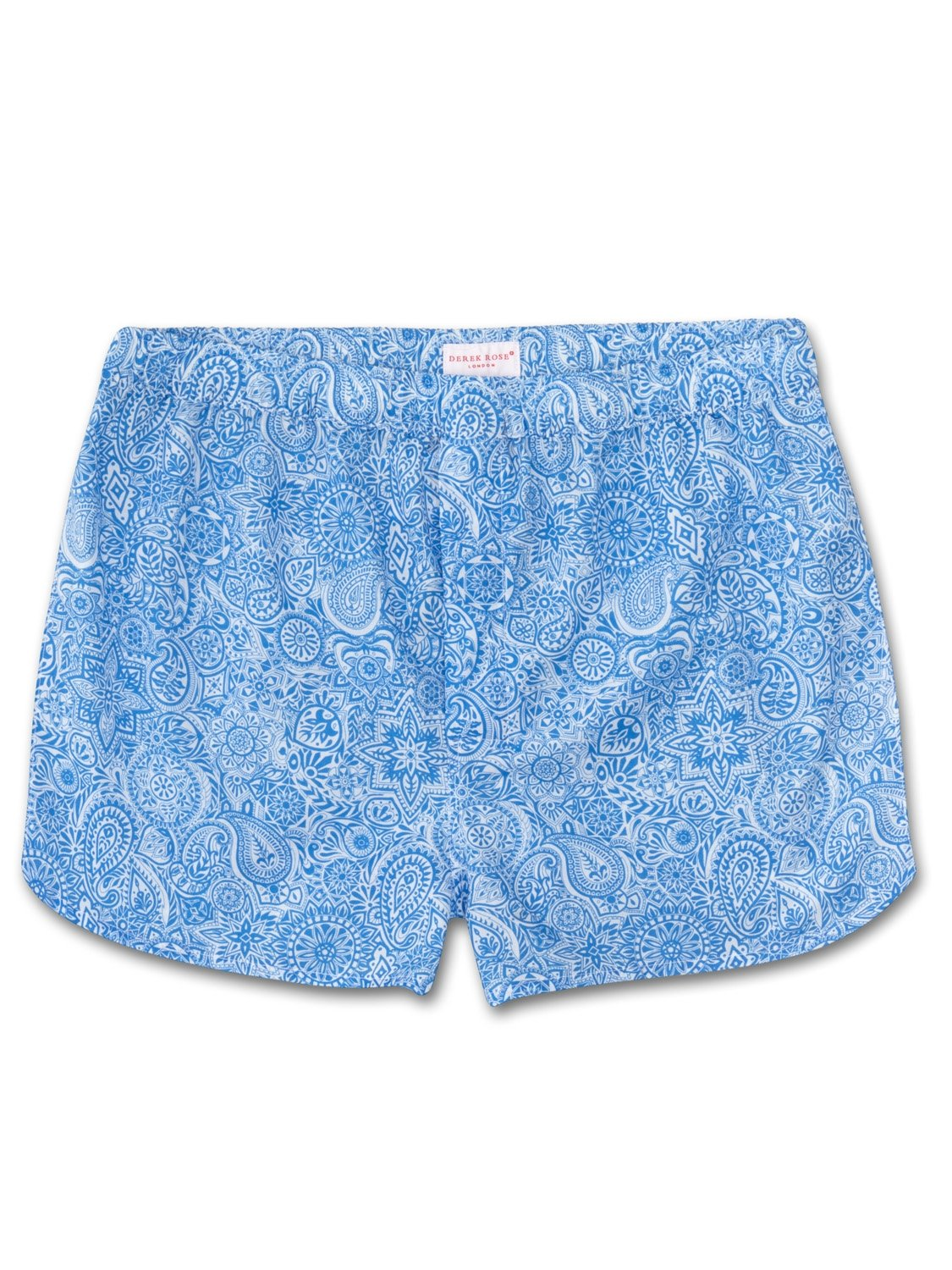 Men's Modern Fit Boxer Shorts Ledbury 6 Cotton Batiste Blue