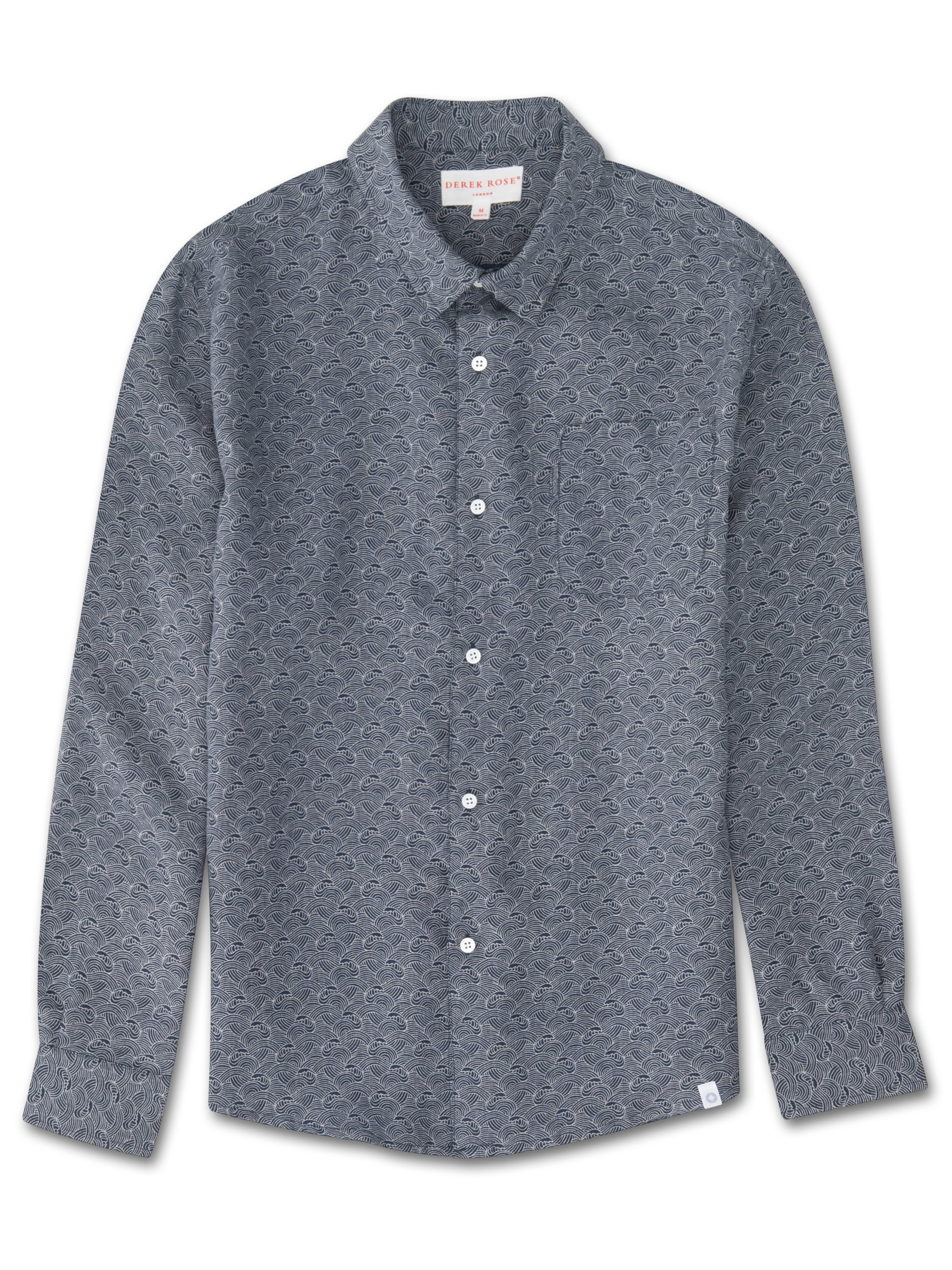 Men's Linen Shirt Milan 2 Linen Navy