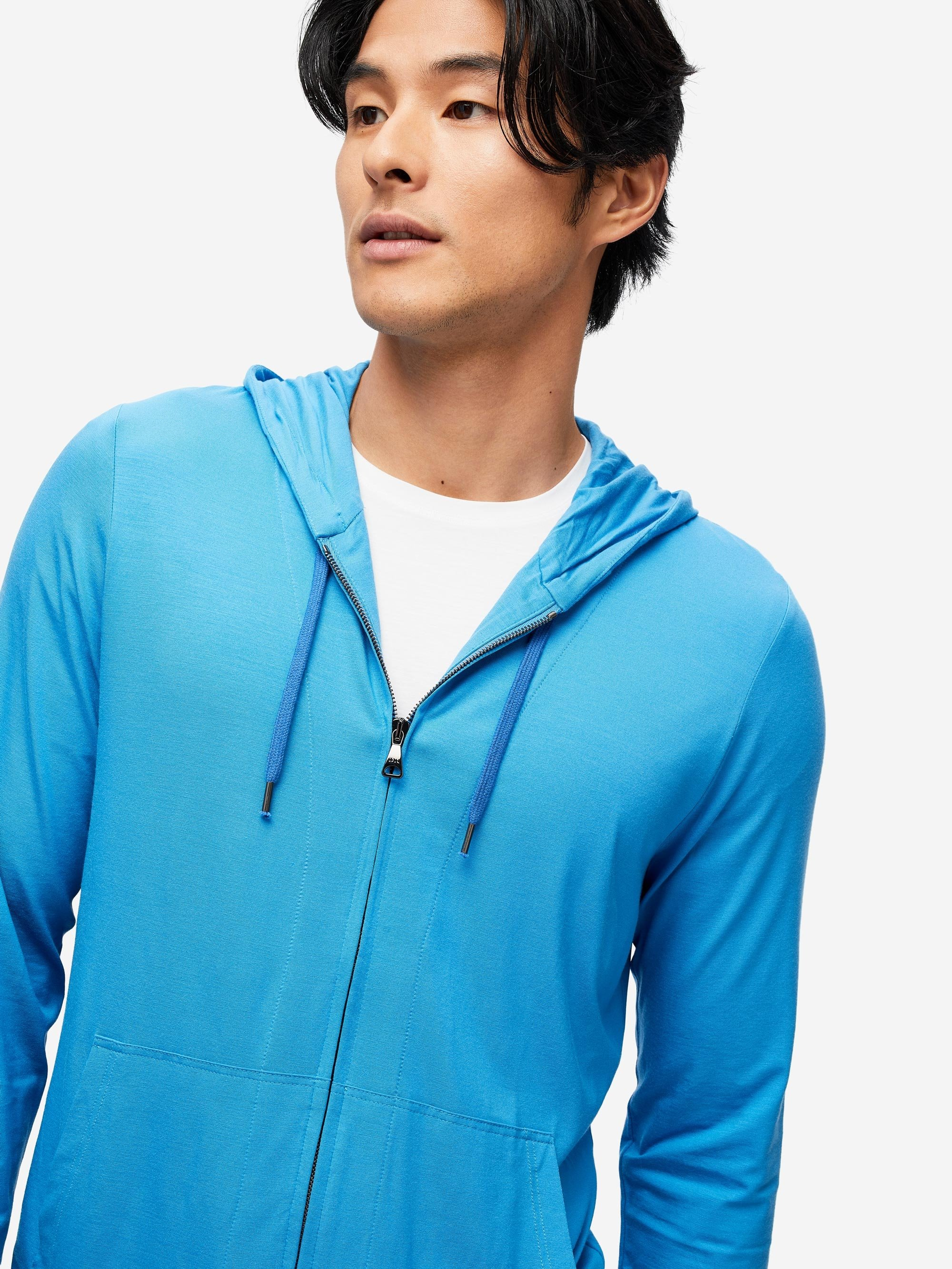 Men's Jersey Hoodie Basel 6 Micro Modal Stretch Blue