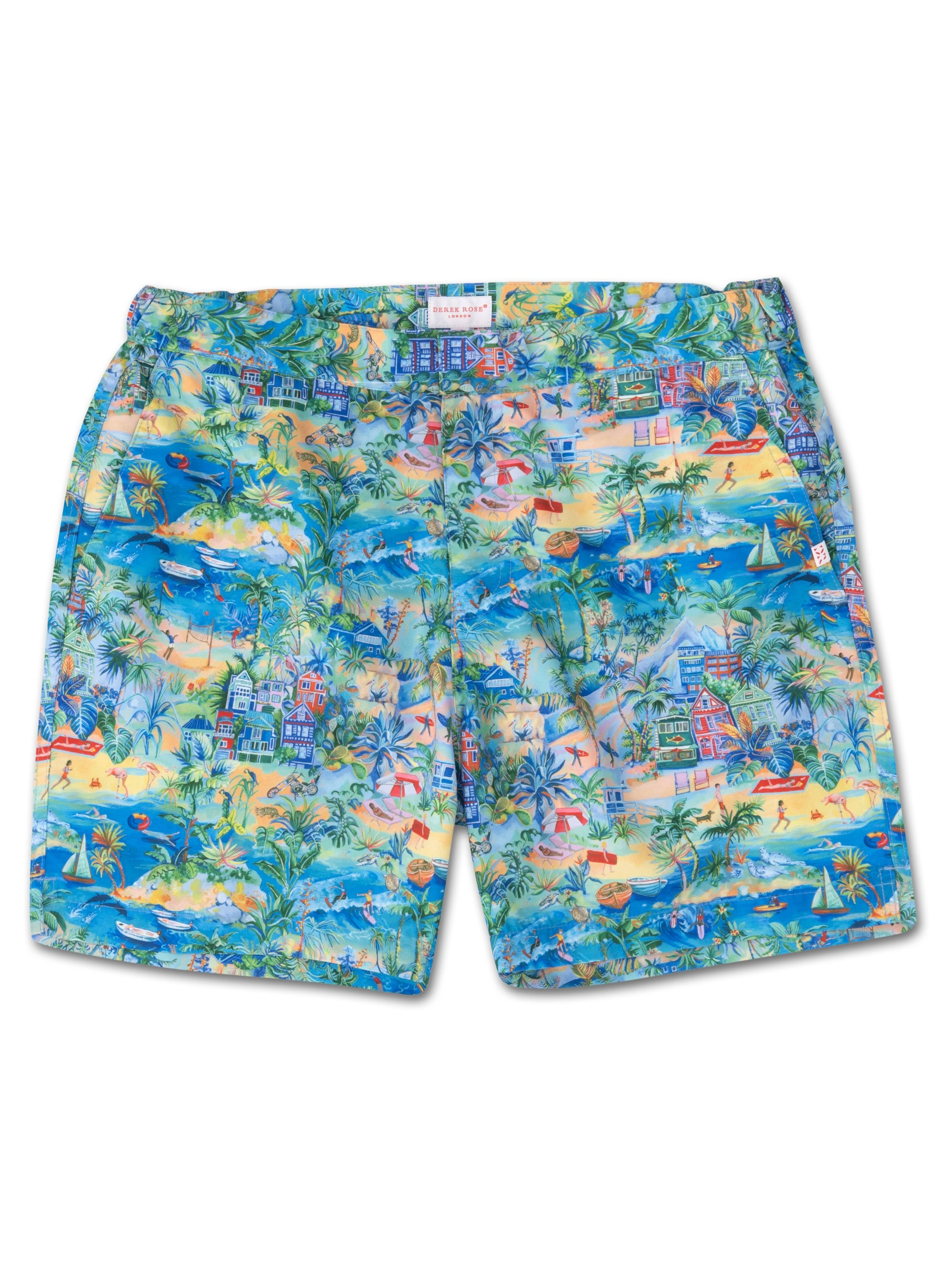 Men's Modern Fit Swim Shorts Maui 10 Multi