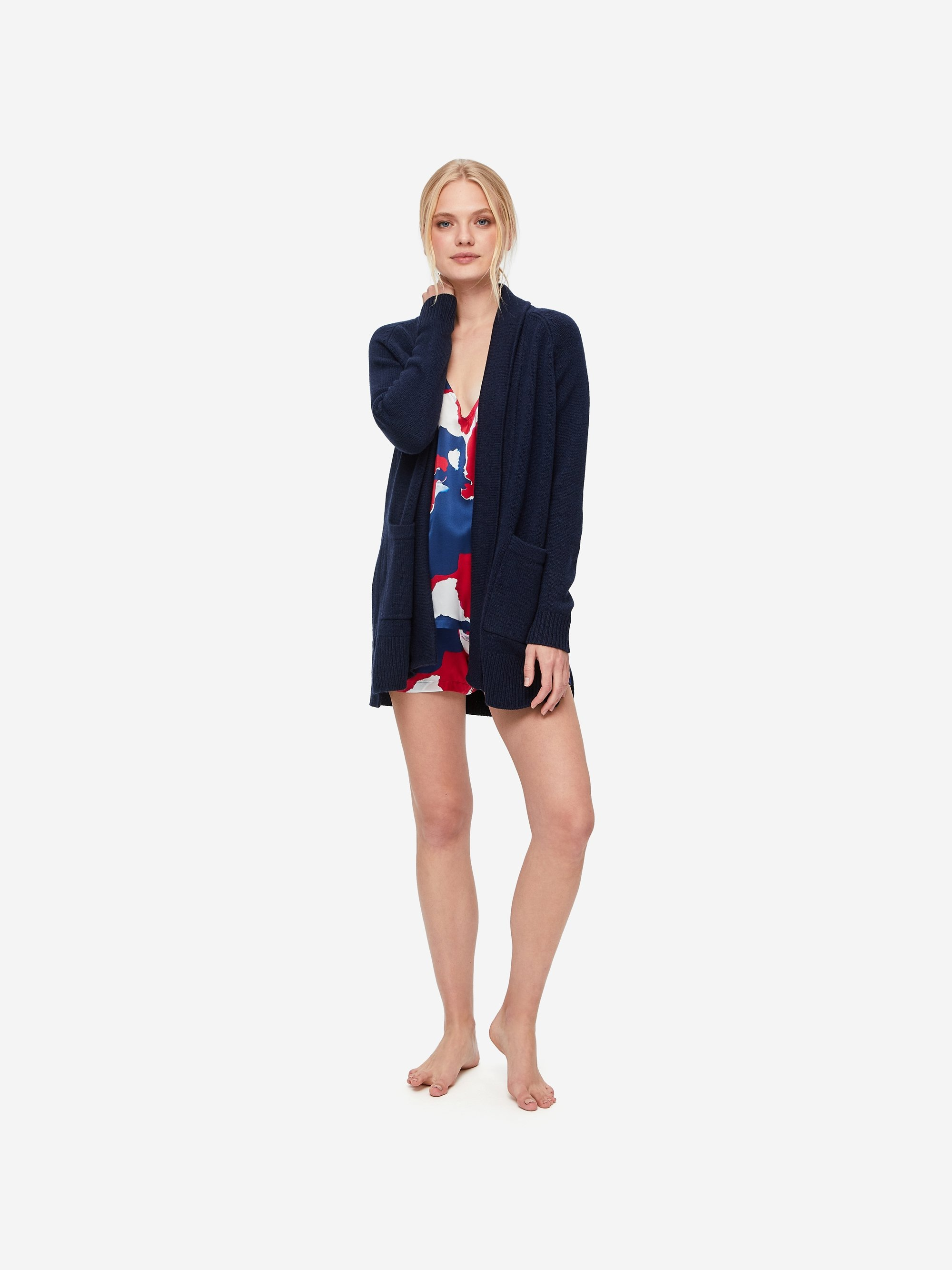 Women's Cashmere Cardigan Nina Pure Cashmere Navy