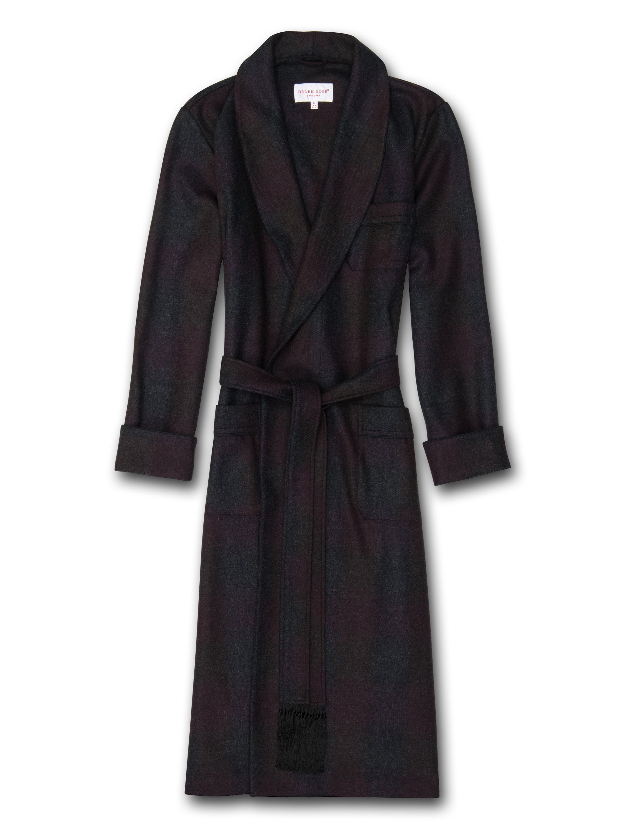 Men's Tasseled Belt Dressing Gown Lancaster Pure Wool Multi