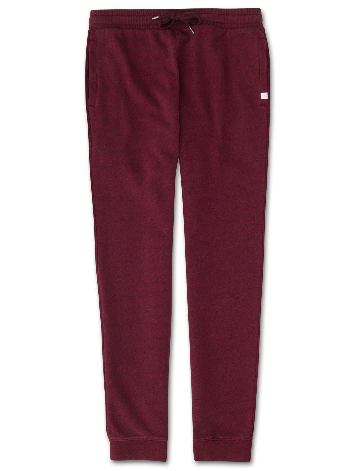 Men's Sweatpants Devon Loopback Cotton Burgundy