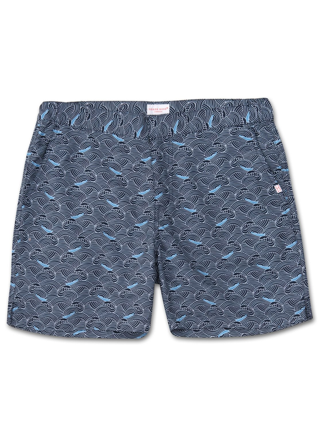 Men's Modern Fit Swim Shorts Maui 7 Navy
