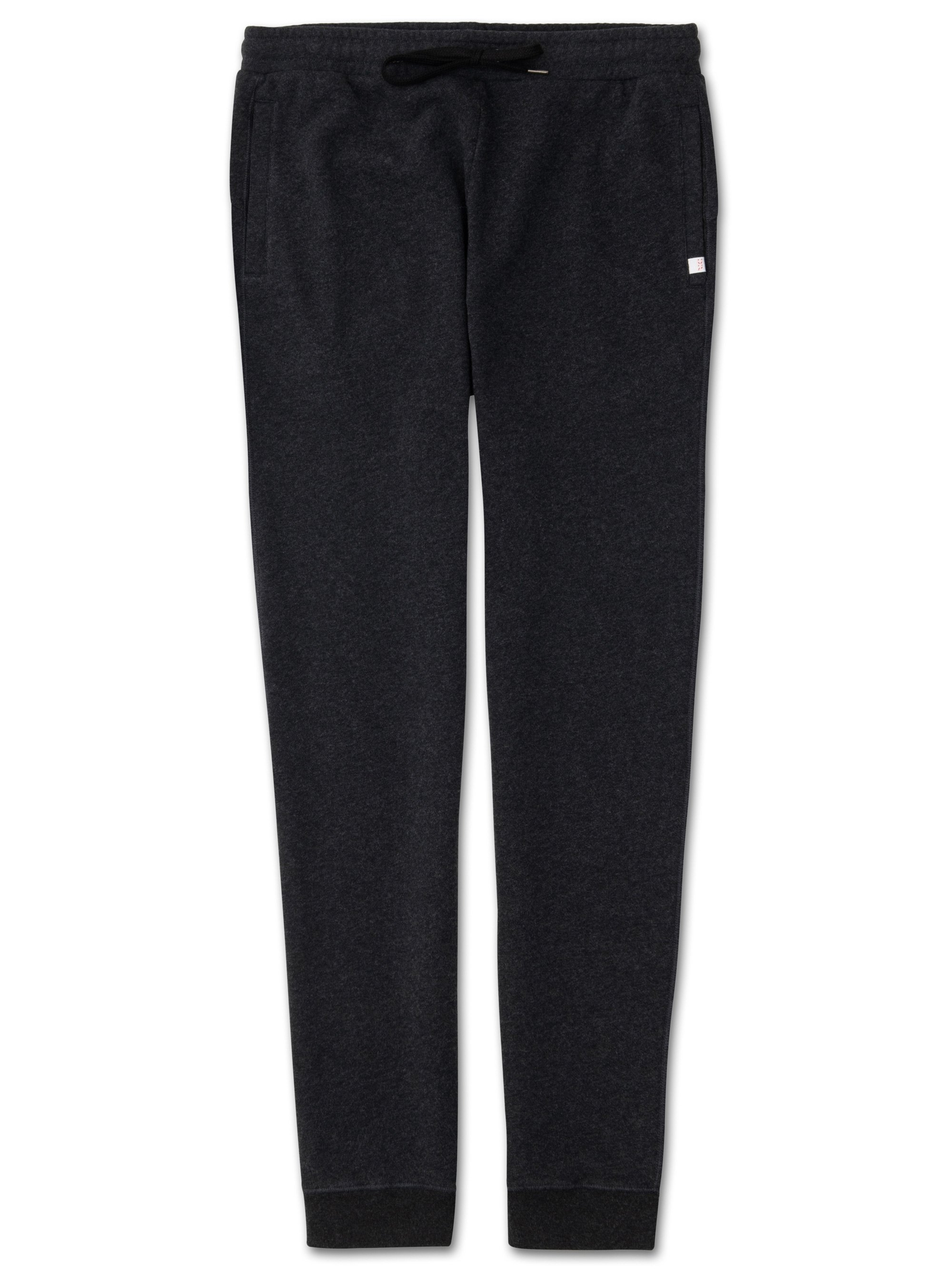 Men's Sweatpants Devon Loopback Cotton Charcoal