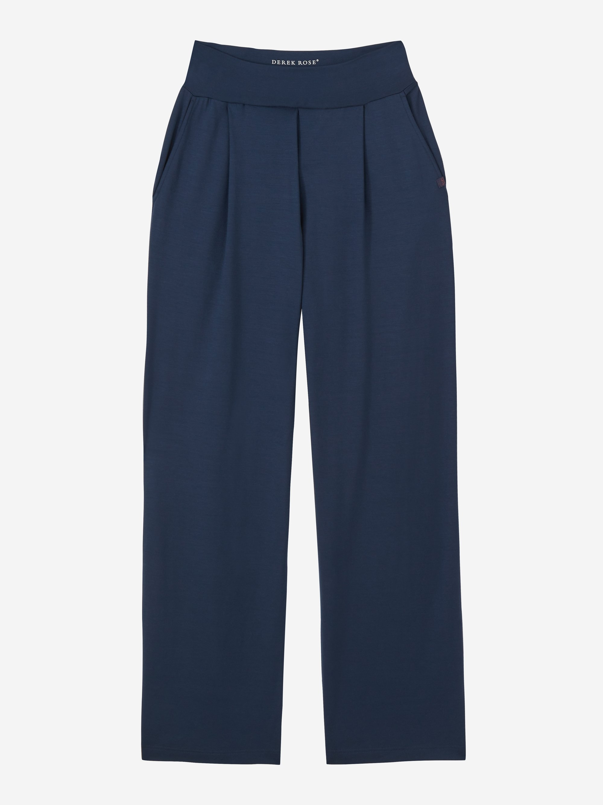 Women's Jersey Trousers Basel Micro Modal Stretch Navy