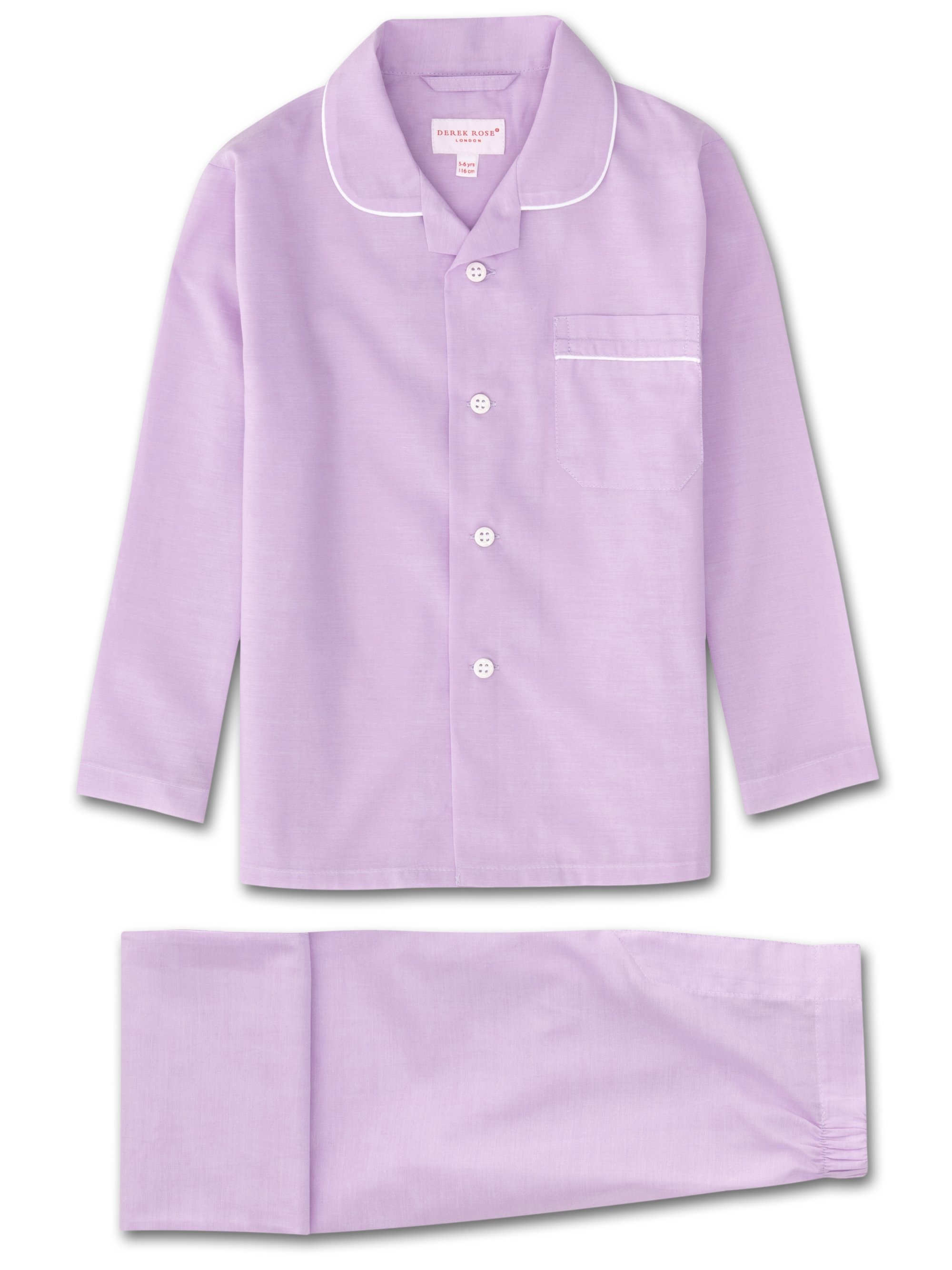 Kids' Pyjamas Amalfi Cotton Batiste Lilac