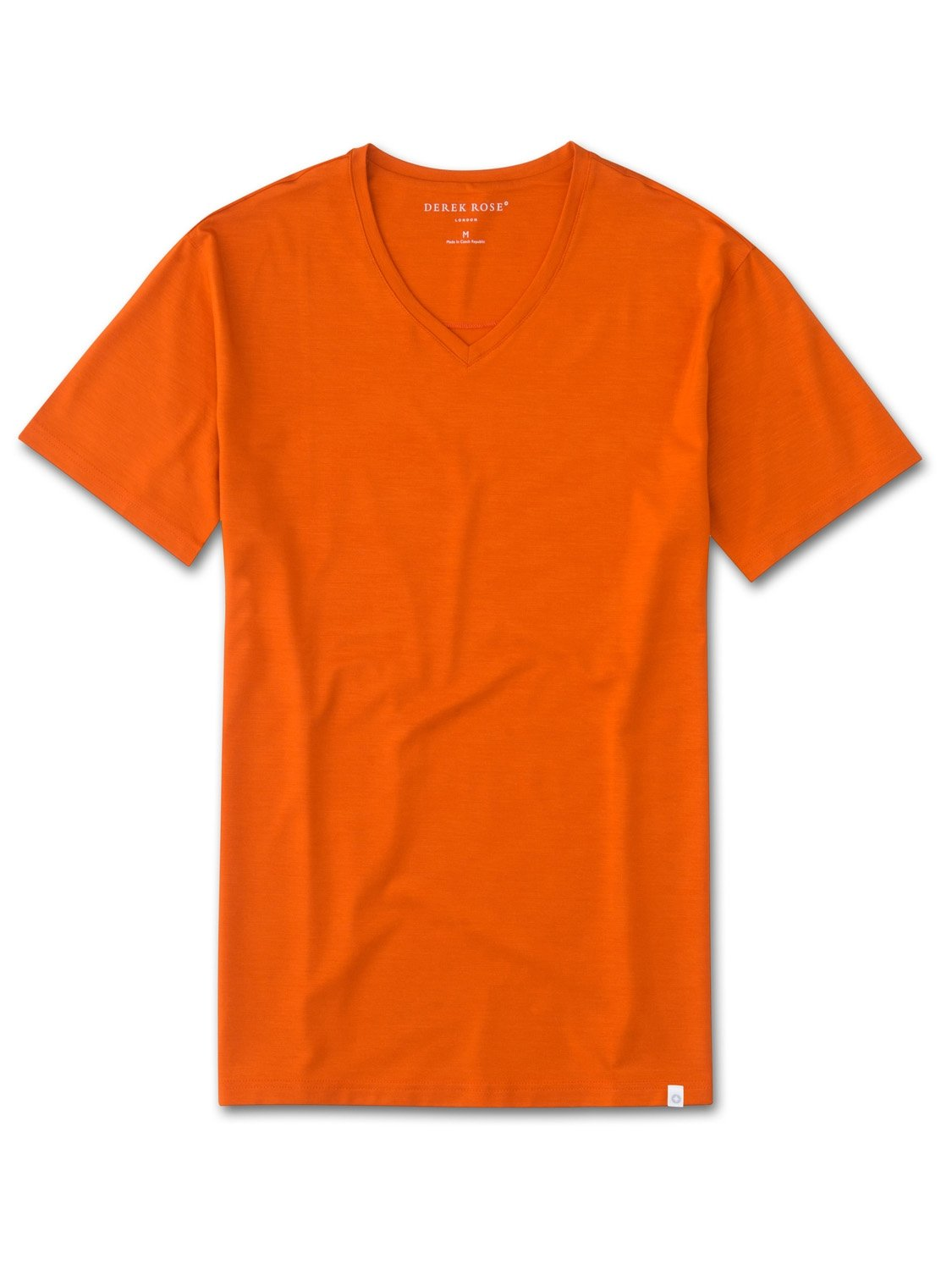 Men's Short Sleeve V-Neck T-Shirt Basel 4 Micro Modal Stretch Orange