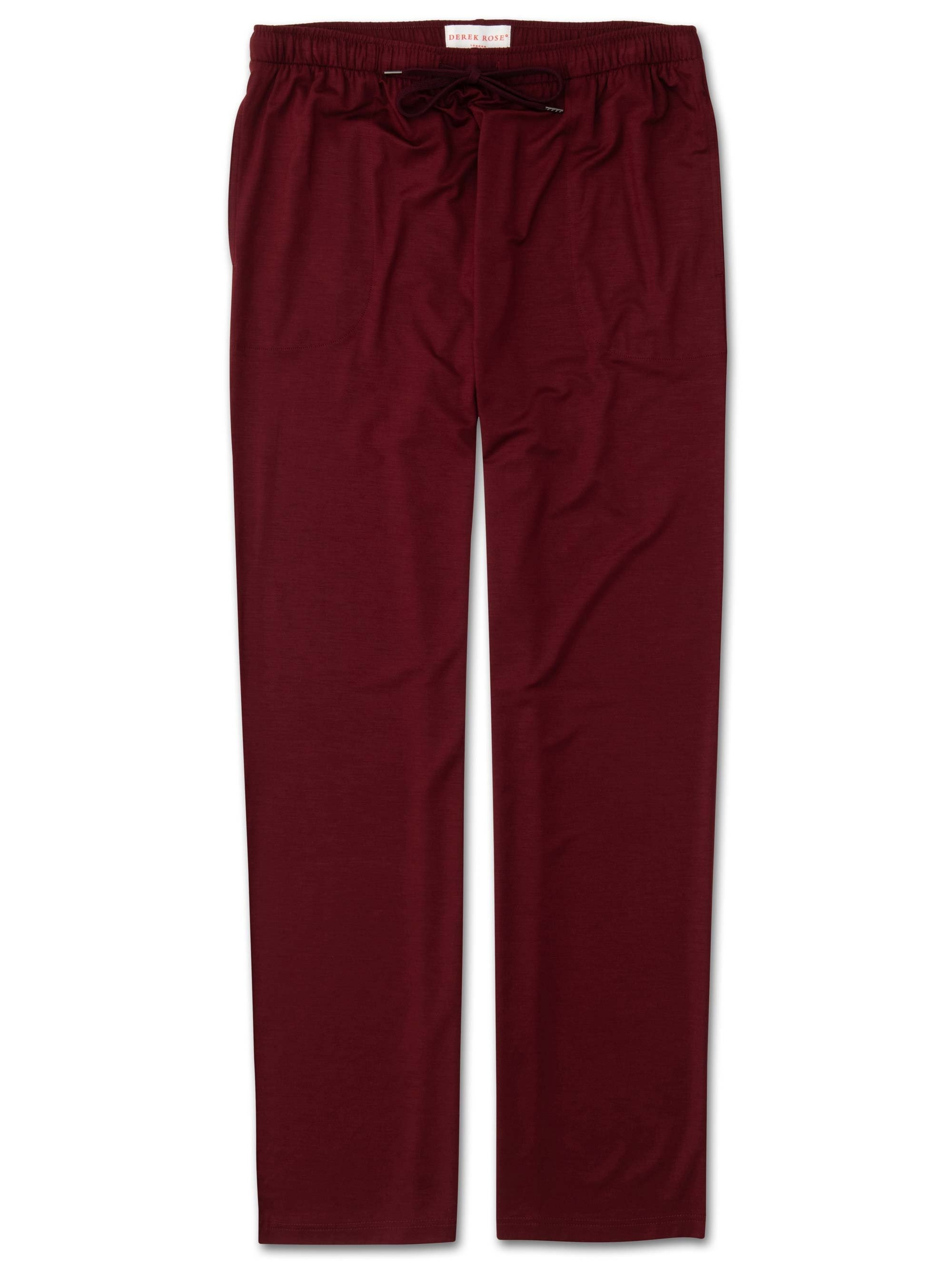 Men's Jersey Trousers Basel 7 Micro Modal Stretch Burgundy