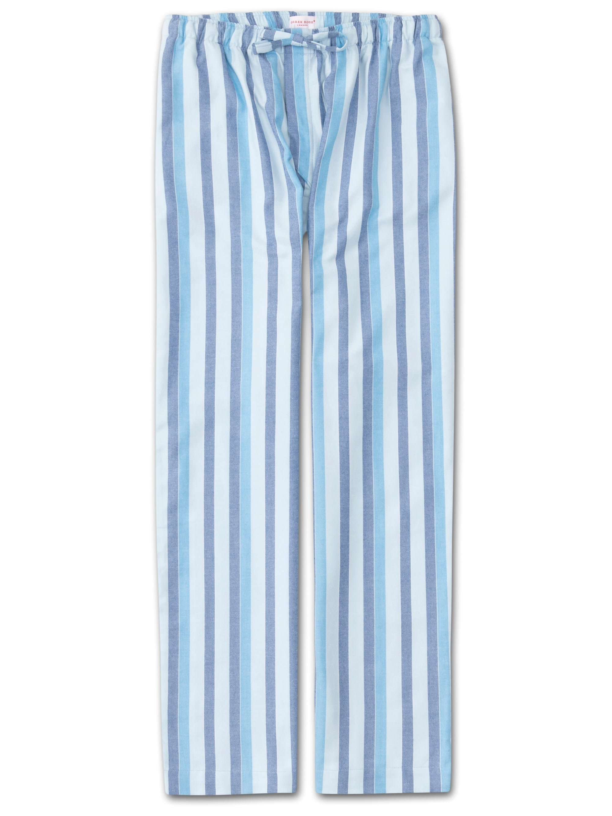 Men's Lounge Trousers Arctic 20 Brushed Cotton Stripe Blue