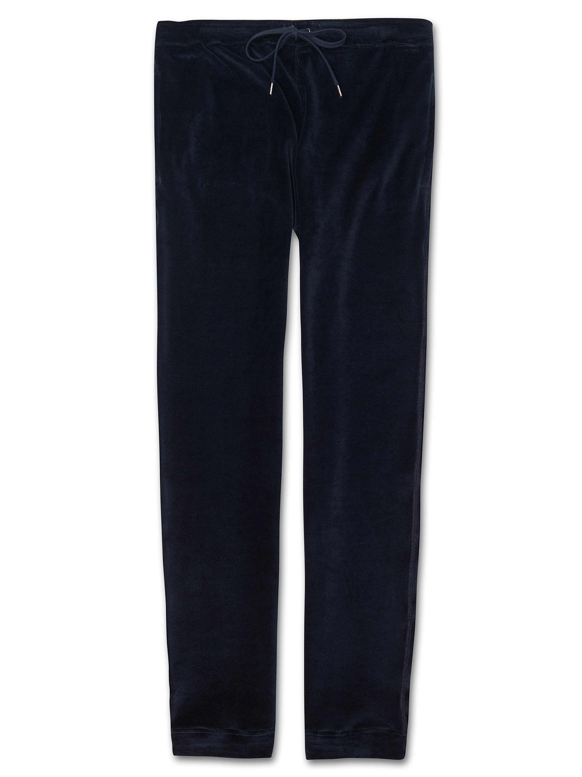 Men's Jersey Sweatpants Nico Velour Navy