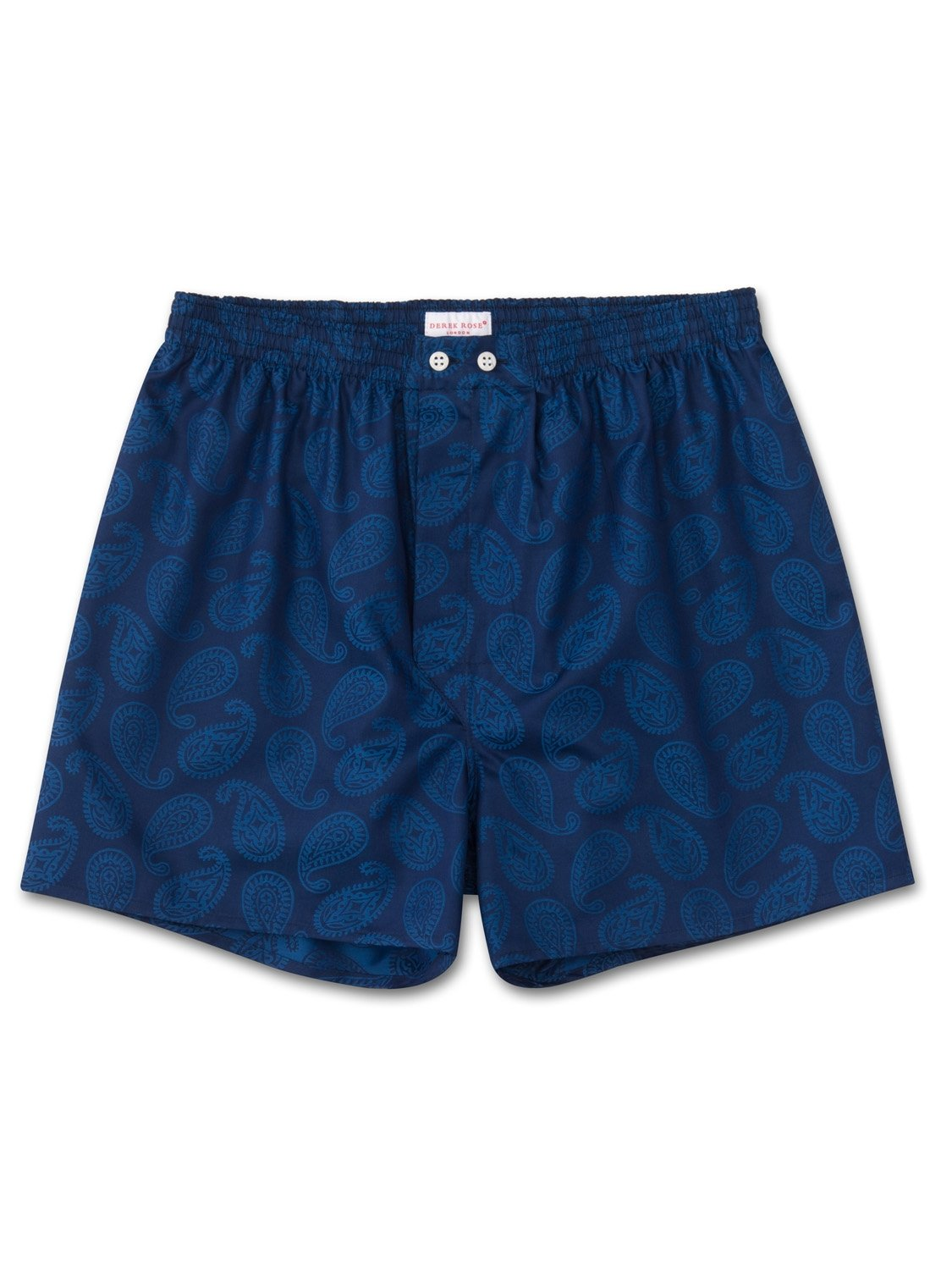 Men's Classic Fit Boxer Shorts Paris 13 Cotton Jacquard Navy