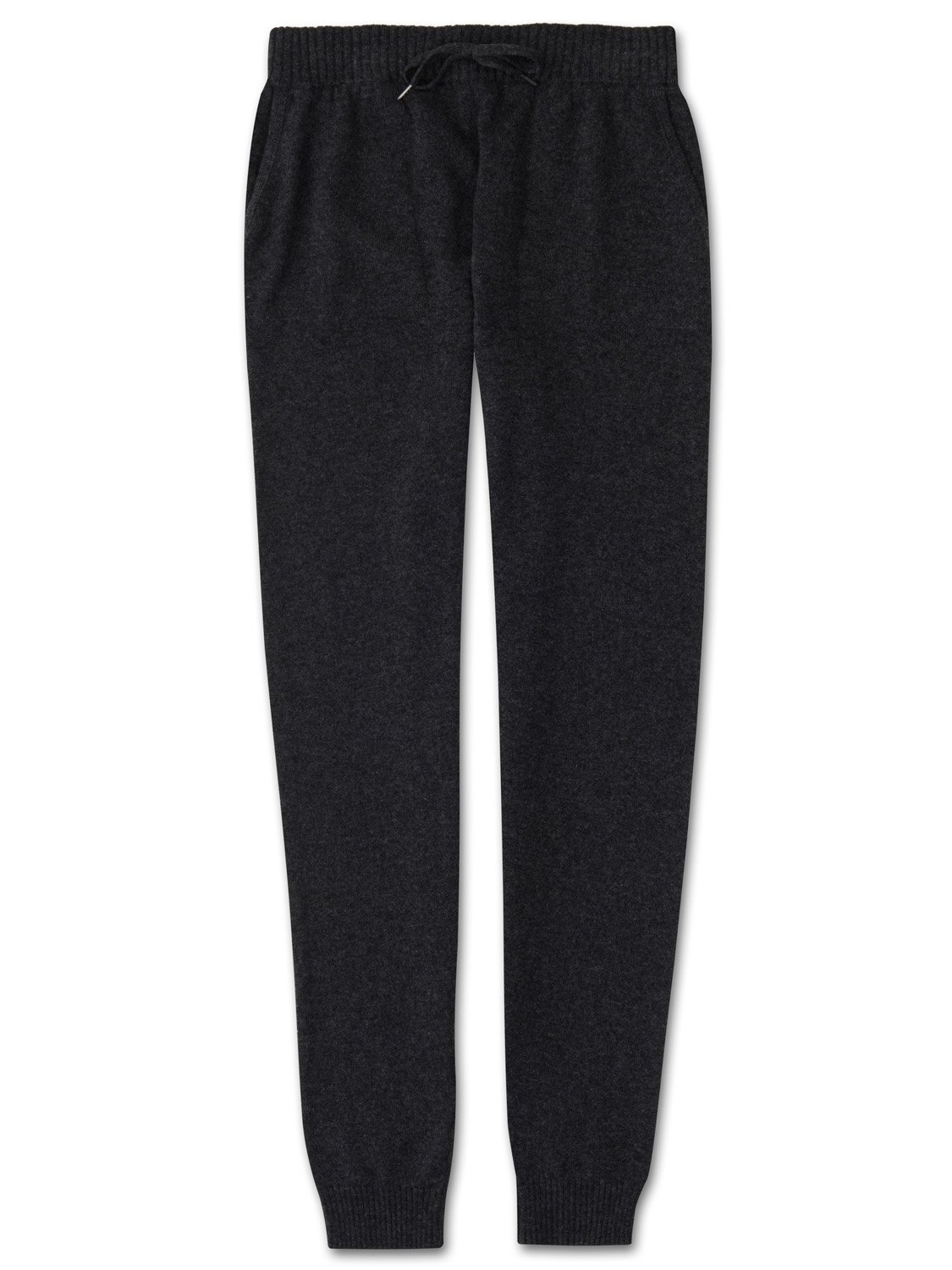 Women's Cashmere Track Pants Finley Pure Cashmere Charcoal