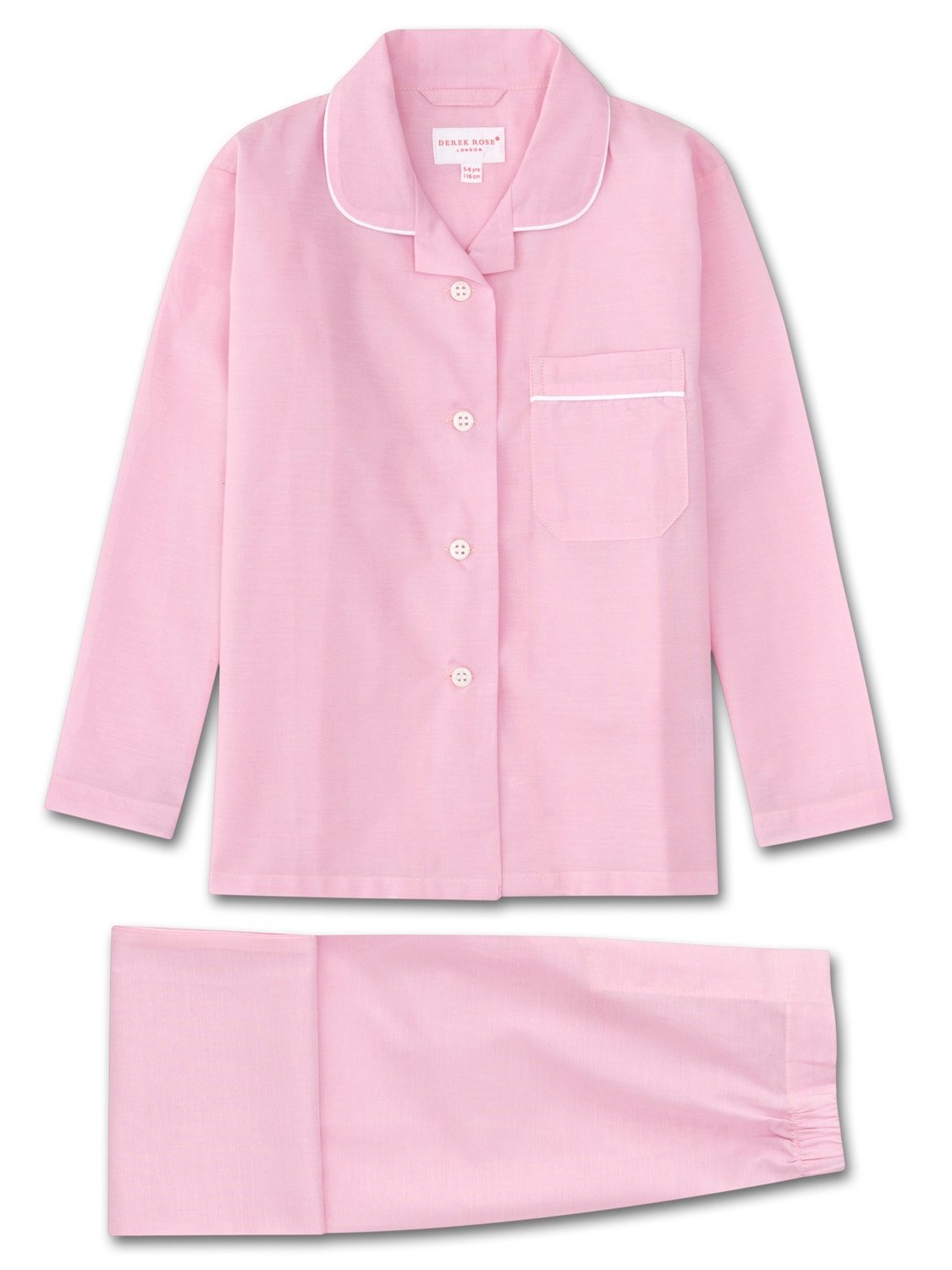 Girls' Pyjamas Amalfi Cotton Batiste Rose