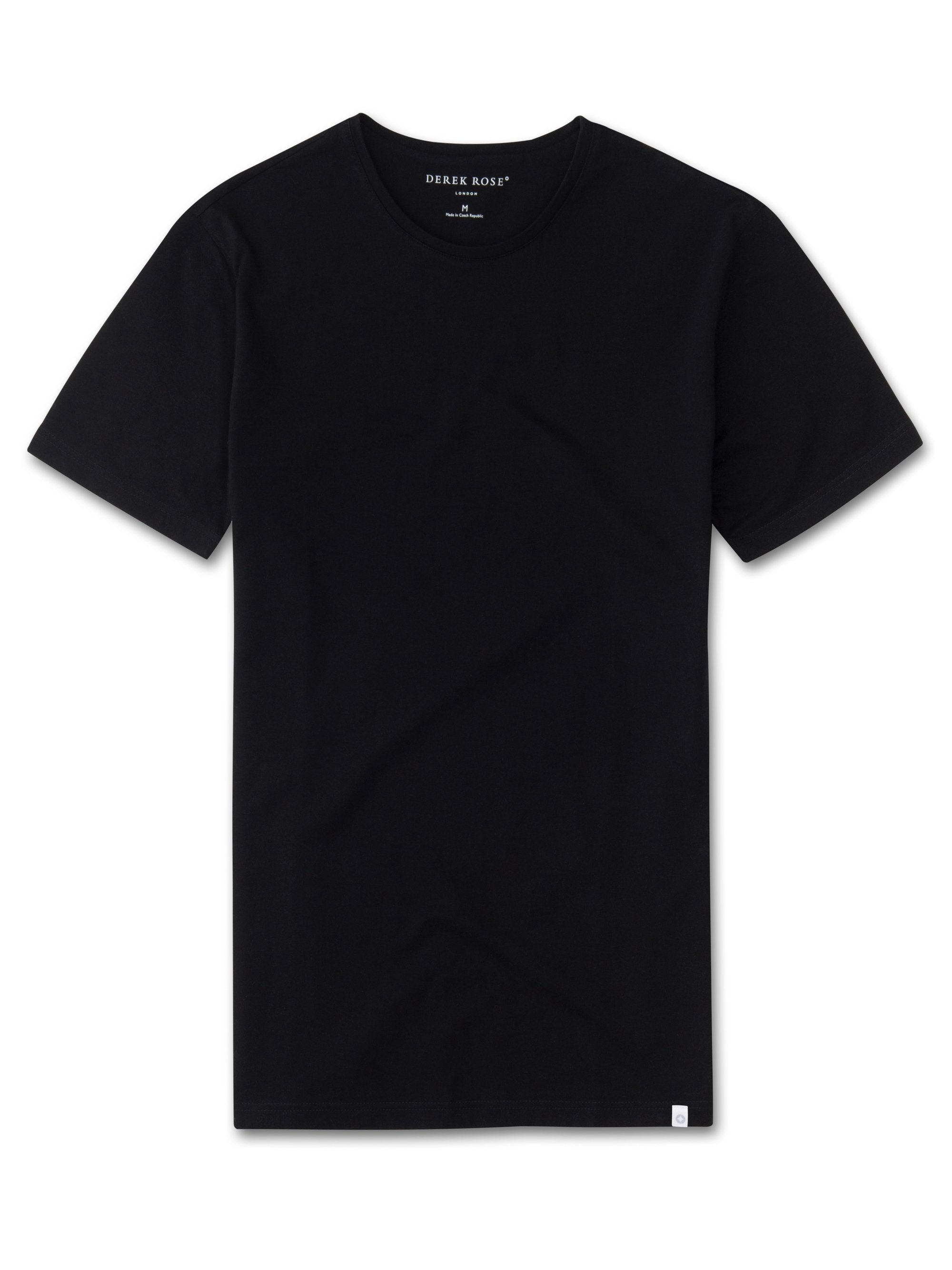 Men's Short Sleeve T-Shirt Turner Carbon-Brushed Cotton Black