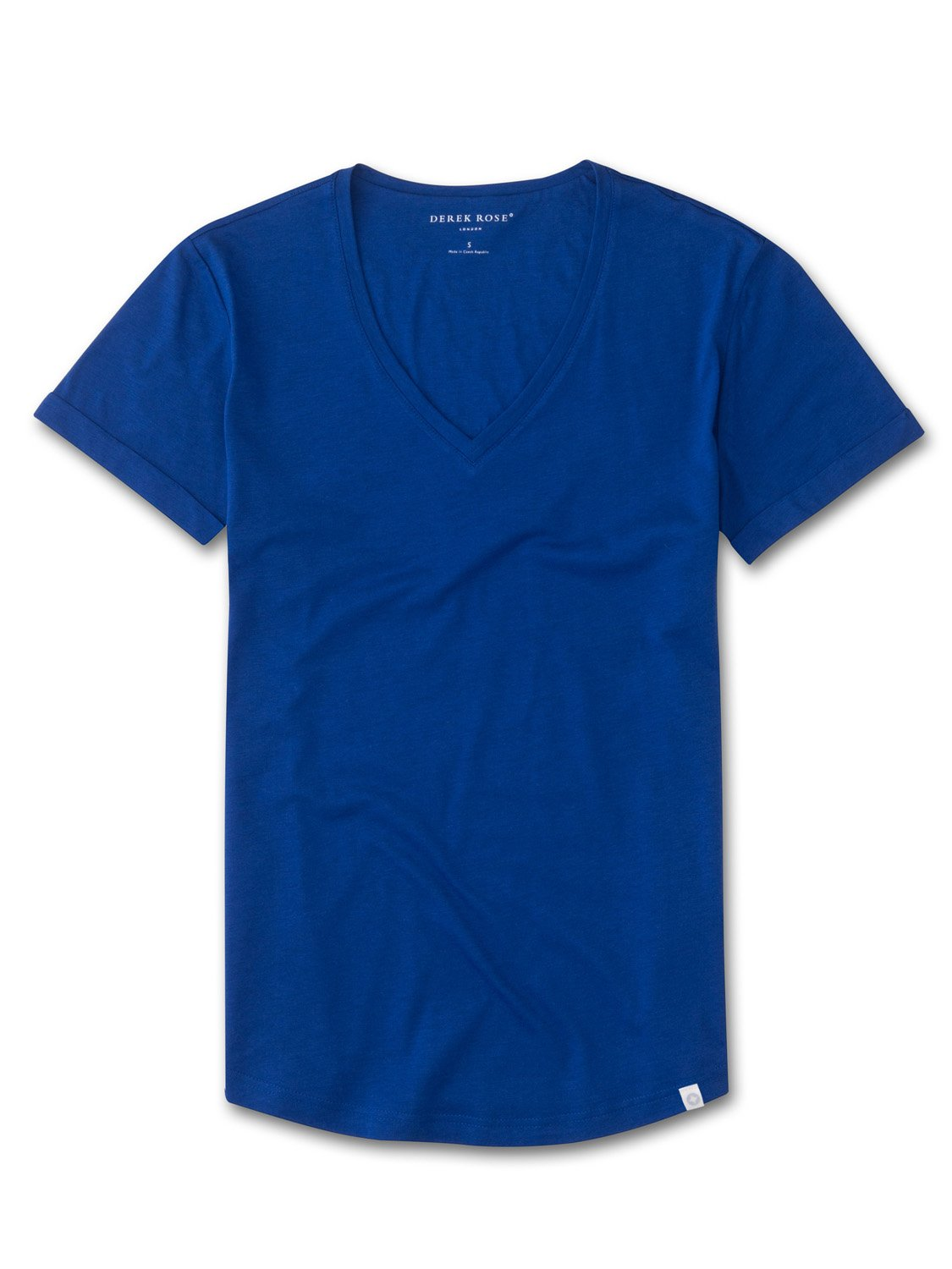Women's V-Neck Leisure T-Shirt Riley Pima Cotton Blue