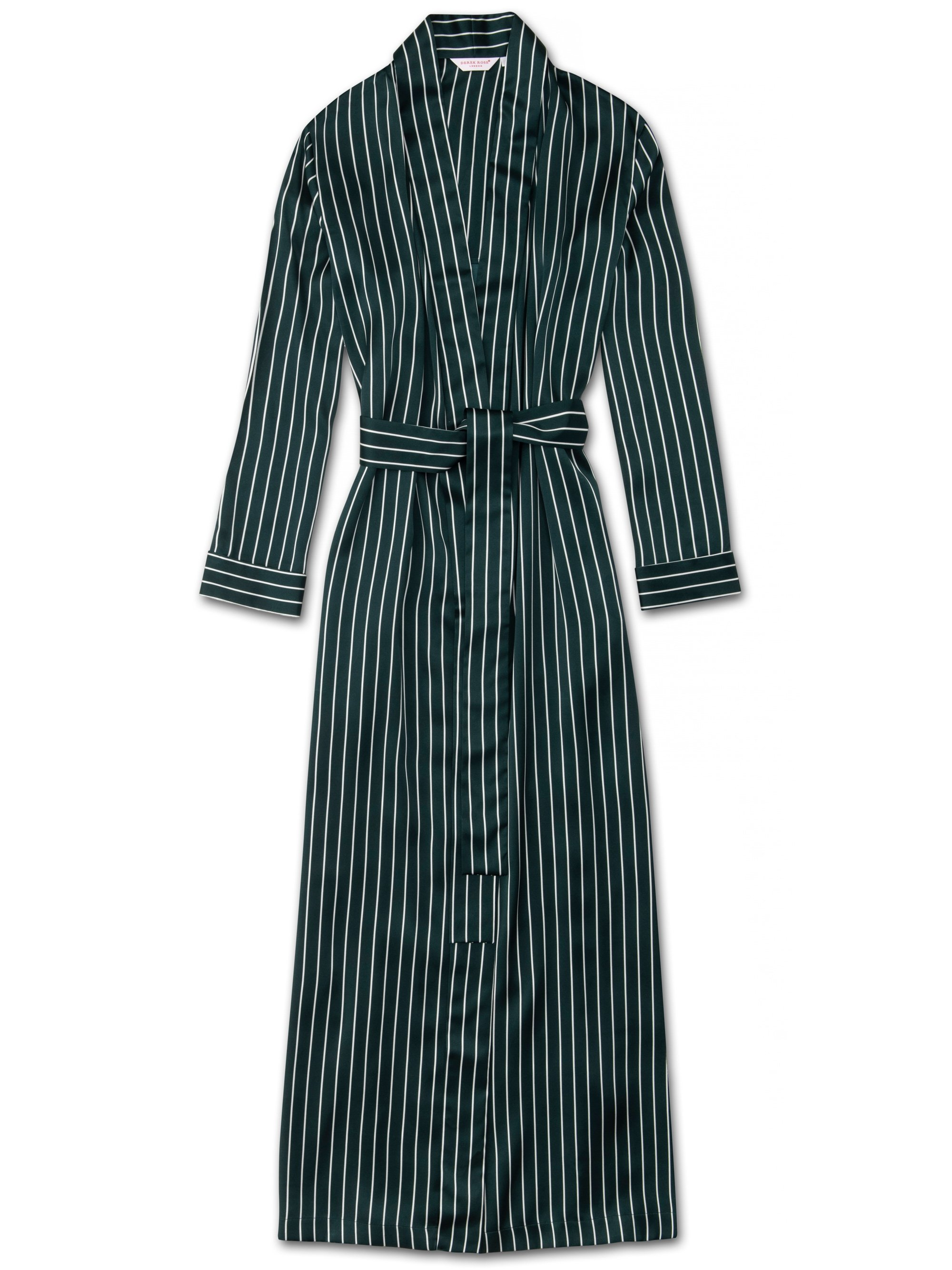 Women's Full Length Dressing Gown Brindisi 55 Pure Silk Green