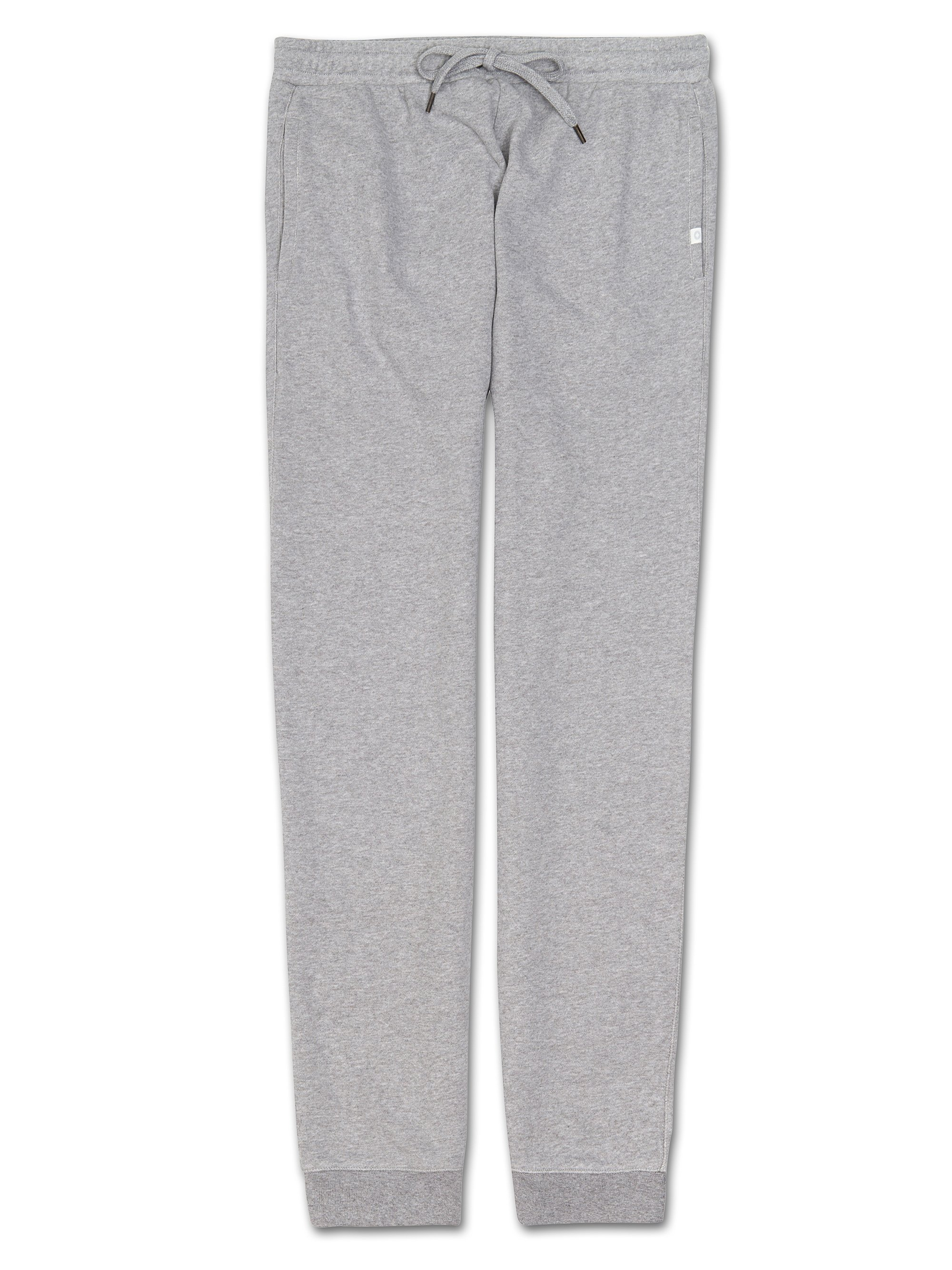 Men's Sweatpants Devon Loopback Cotton Silver