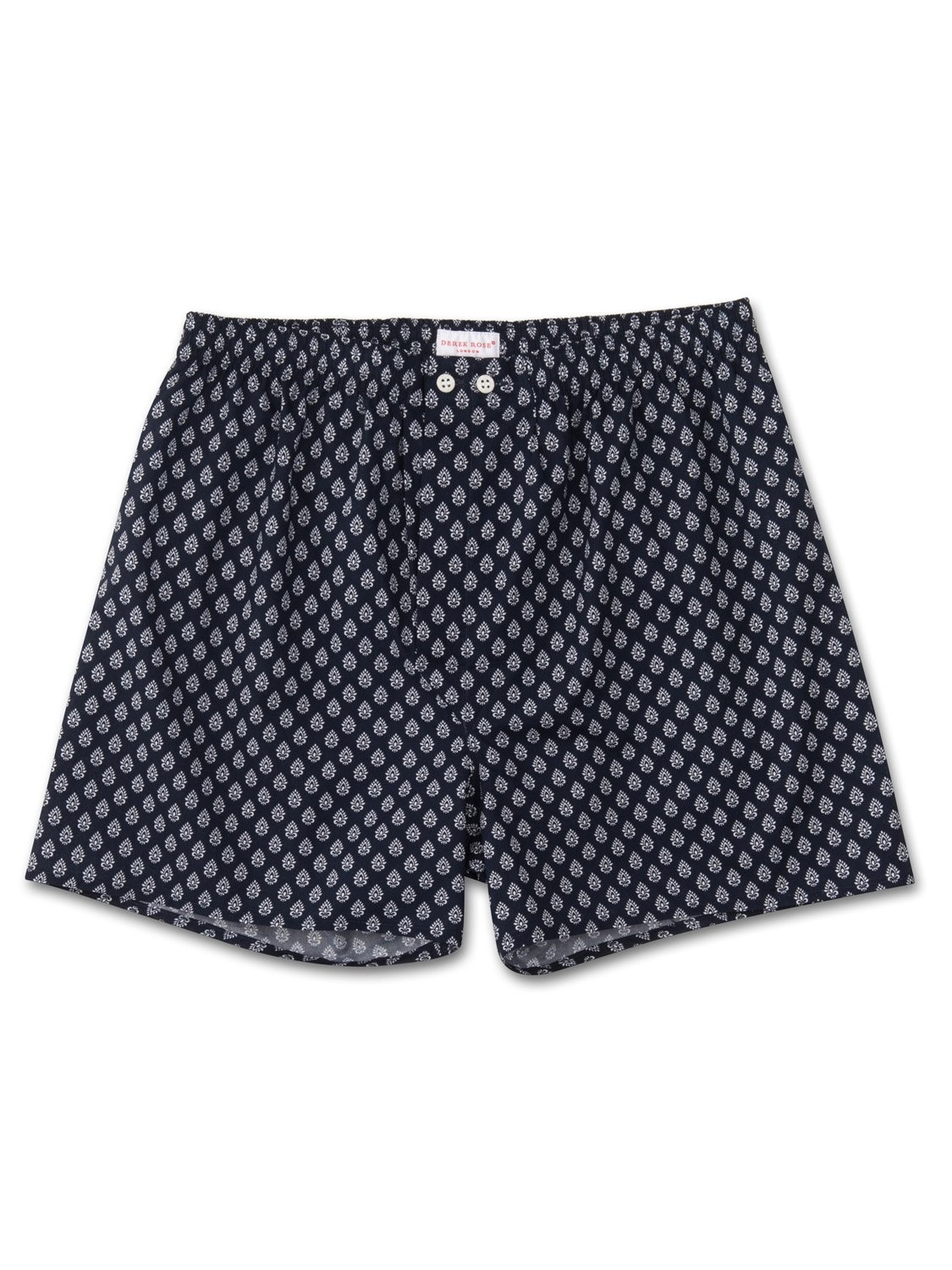 Men's Classic Fit Boxer Shorts Nelson 64 Cotton Batiste Navy
