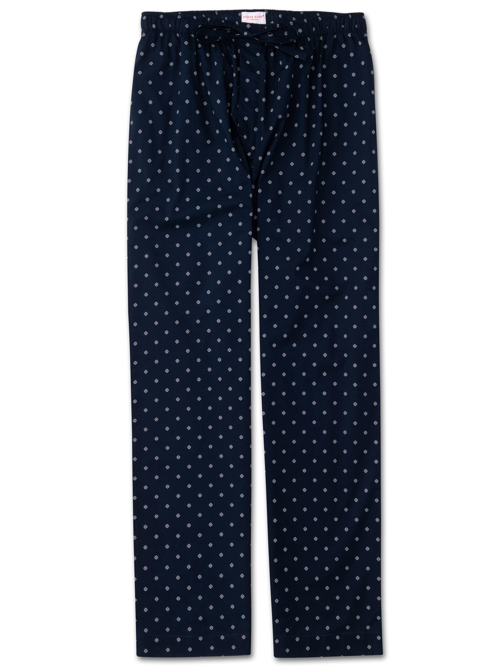 Men's Lounge Trousers Nelson 71 Cotton Batiste Navy